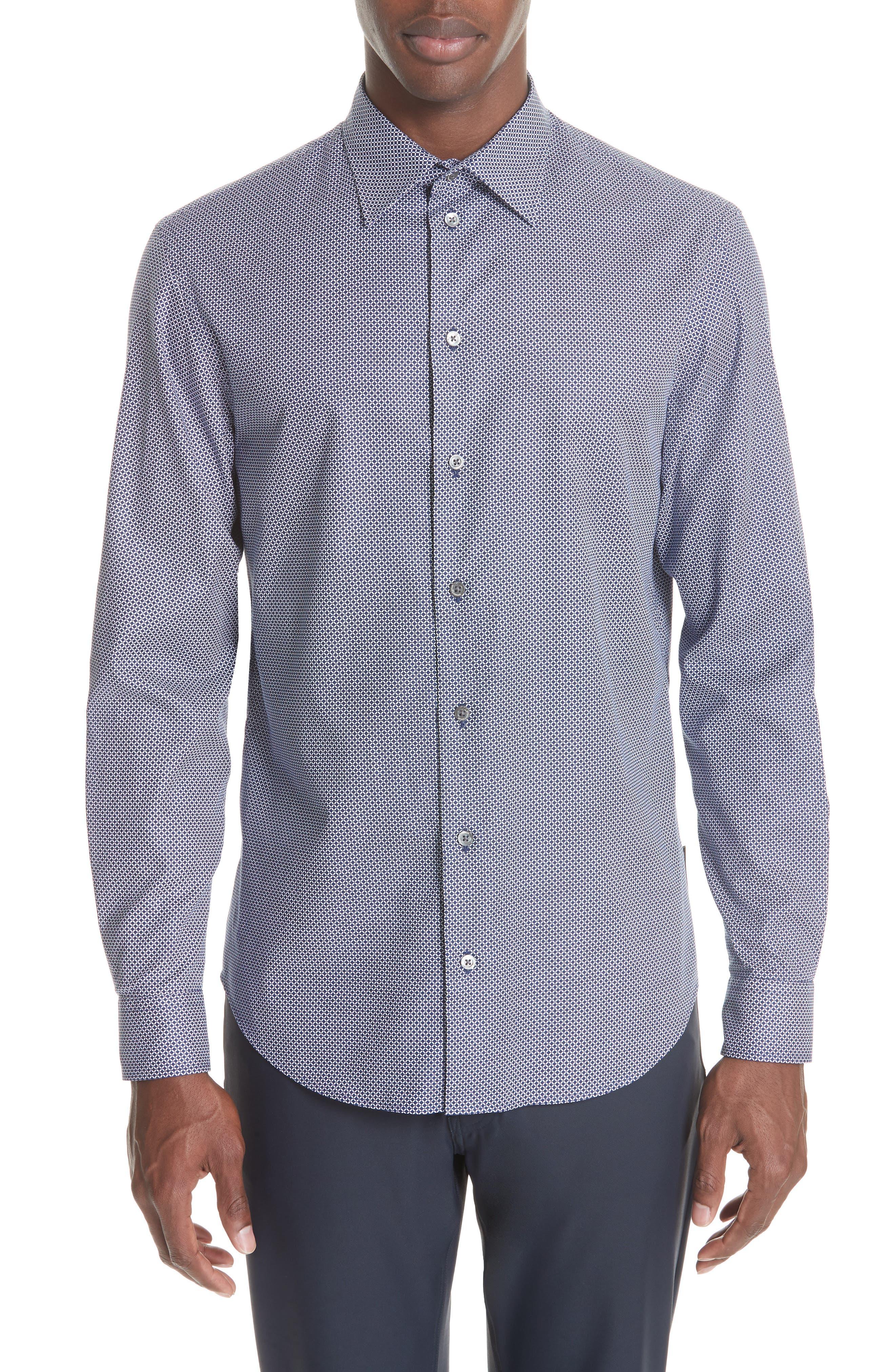 Regular Fit Sport Shirt,                         Main,                         color, BLUE