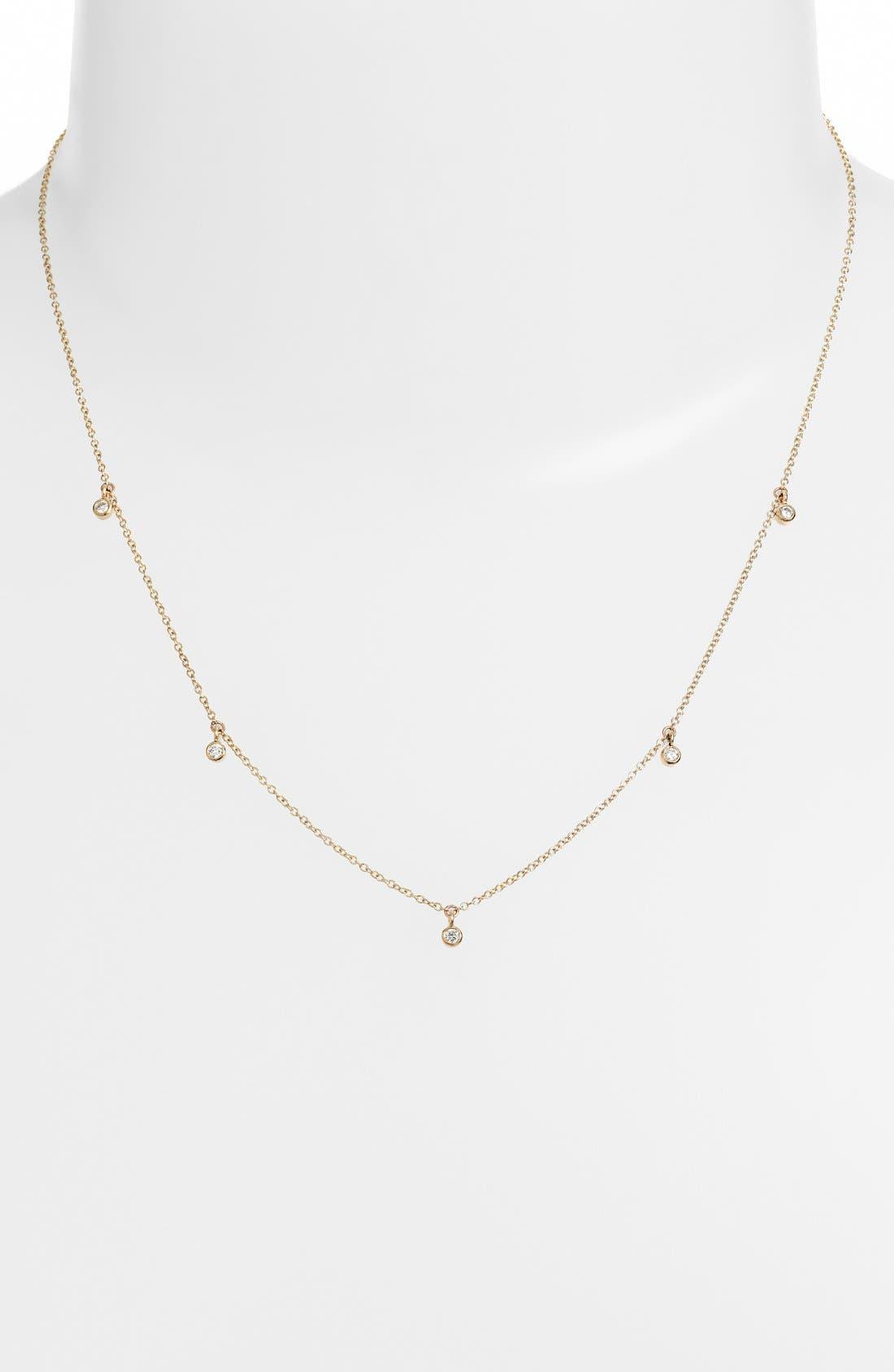 Diamond Strand Necklace,                         Main,                         color, 710