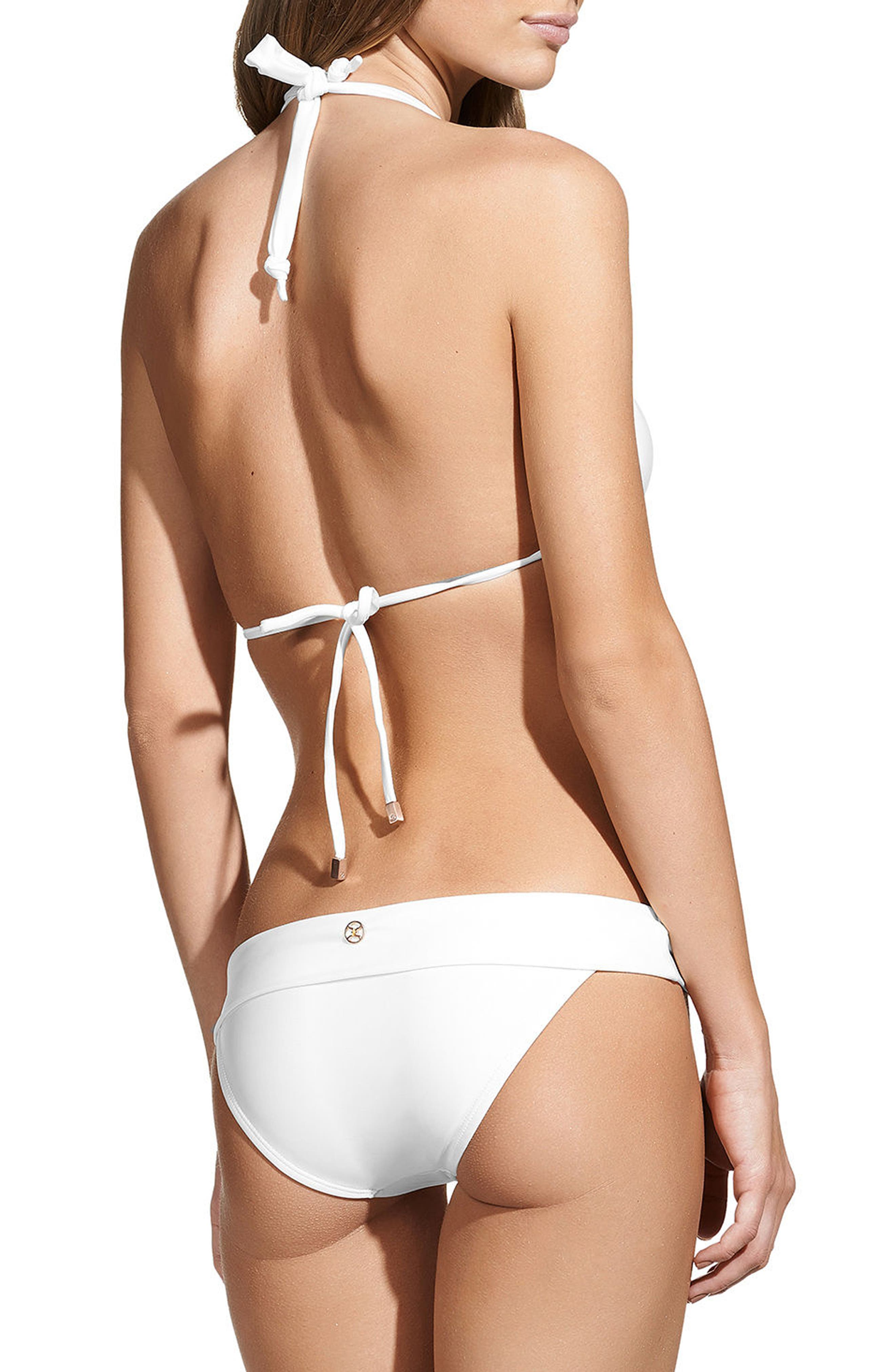 ViX White Bia Bikini Bottoms,                             Alternate thumbnail 4, color,                             WHITE