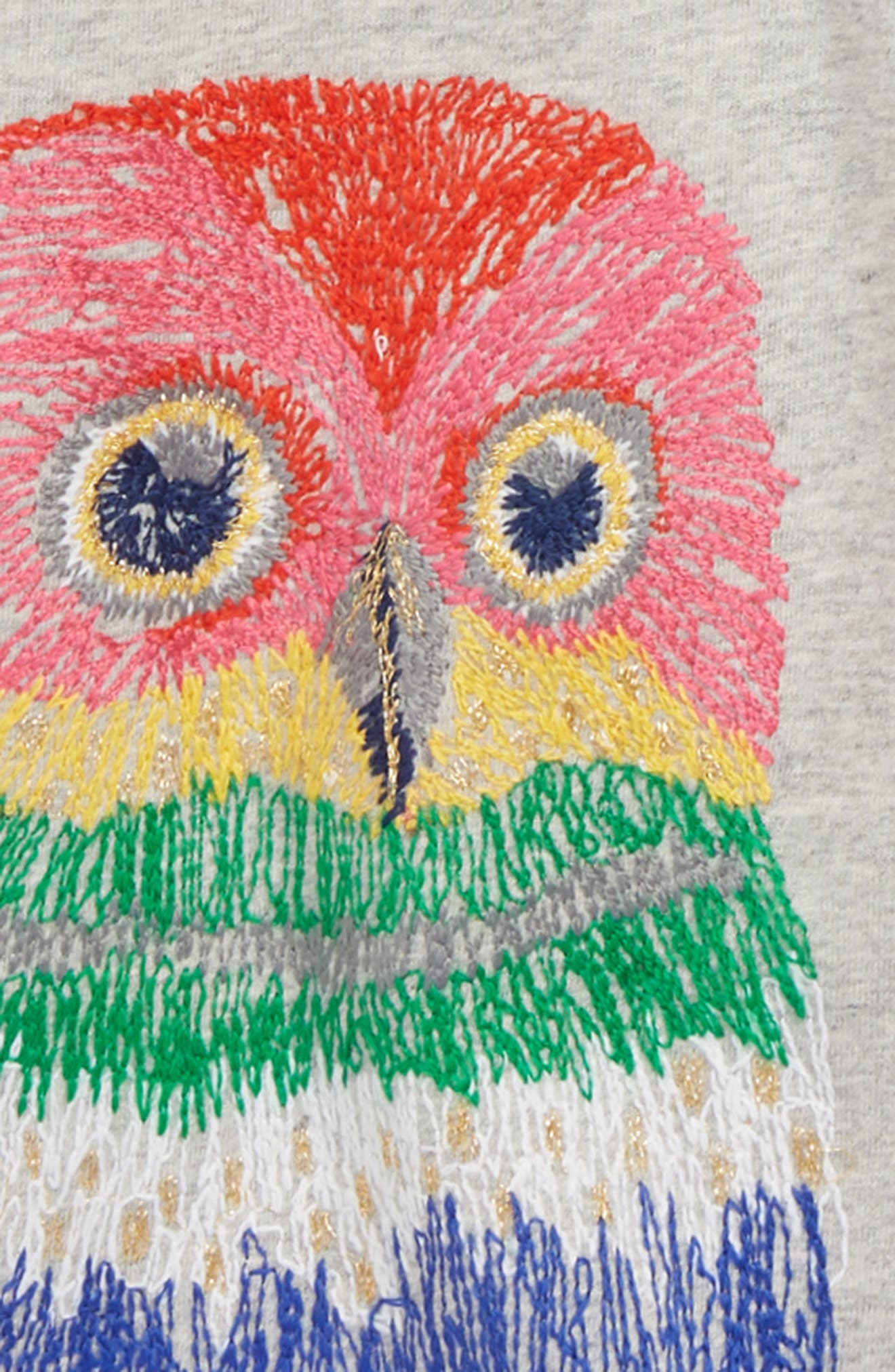 Superstitch Appliqué Tee,                             Alternate thumbnail 2, color,                             GREY MARLE OWL