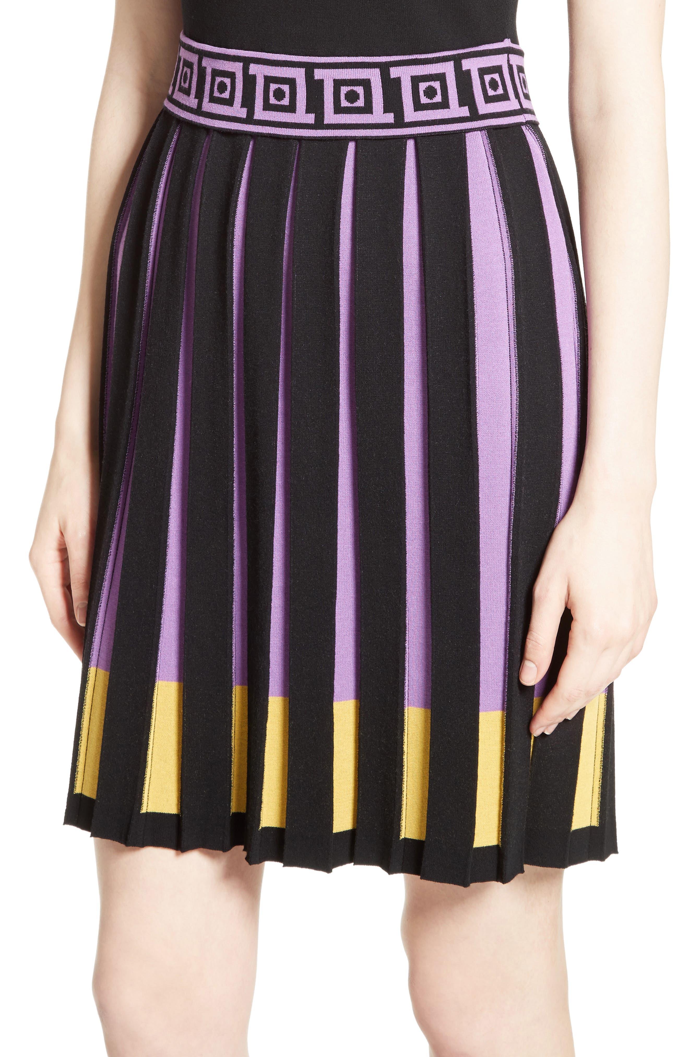 Knit Fit & Flare Dress,                             Alternate thumbnail 4, color,                             009