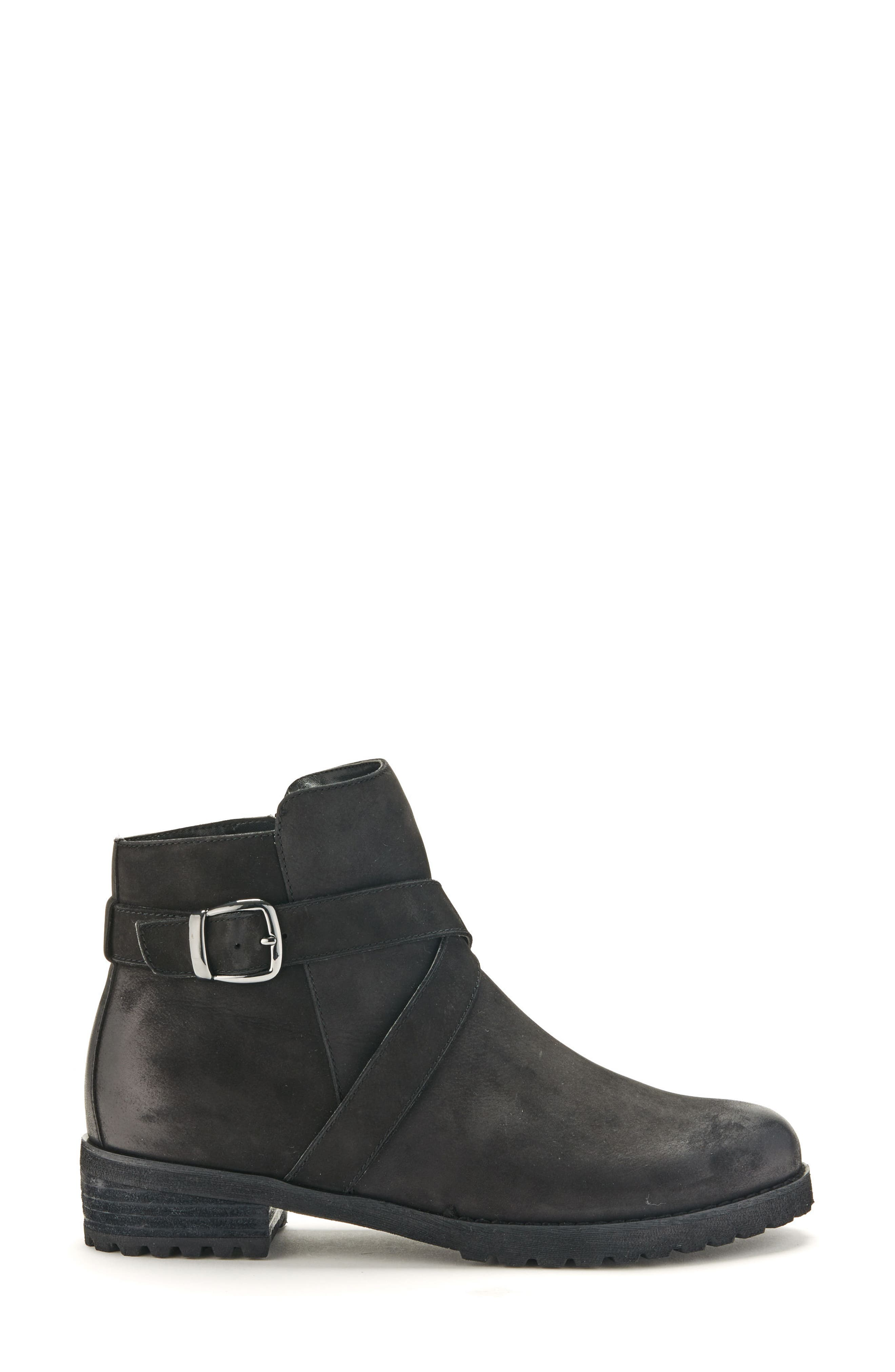 BLONDO,                             Varta Waterproof Bootie,                             Alternate thumbnail 3, color,                             BLACK NUBUCK LEATHER
