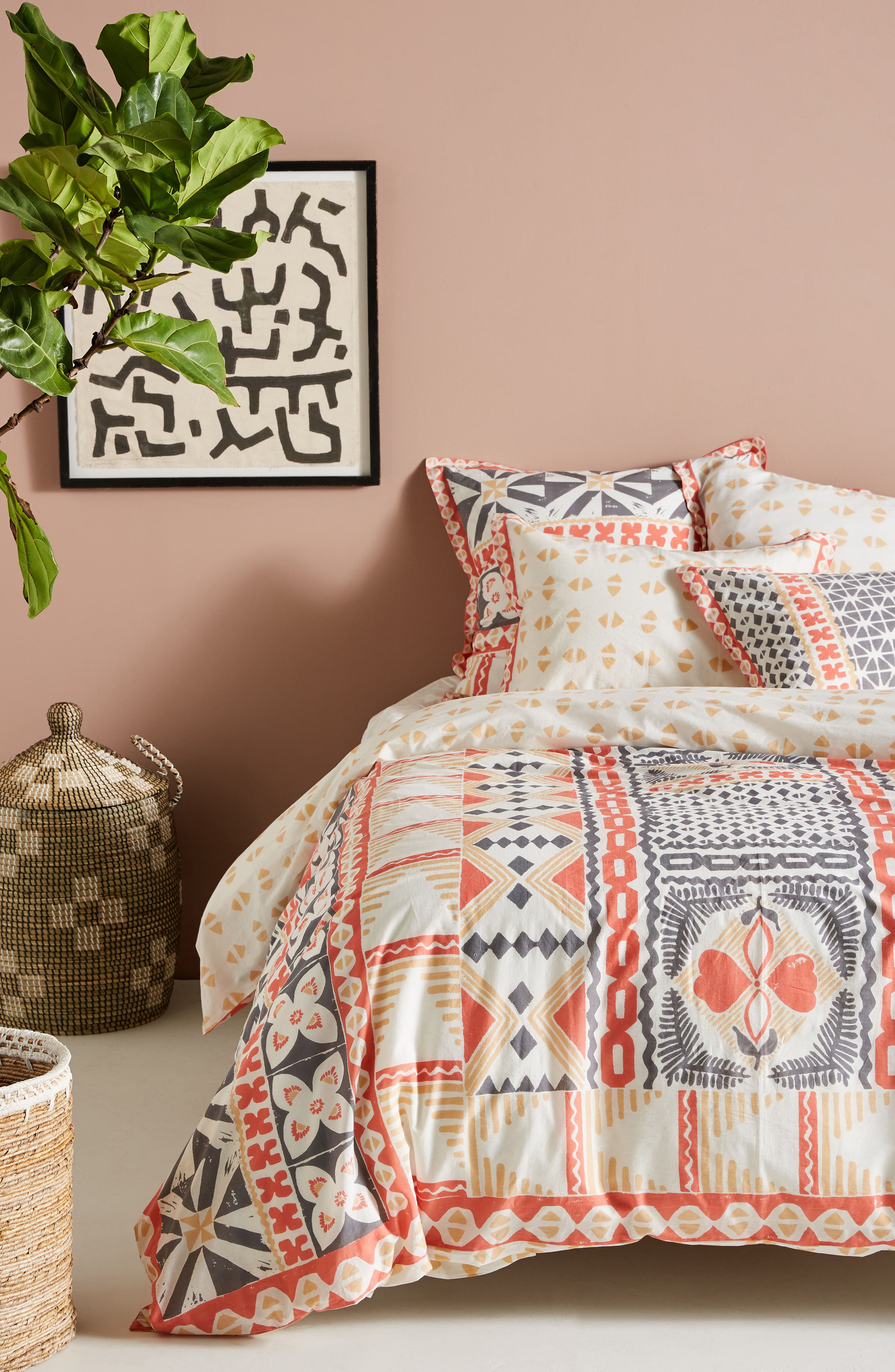 Simone Duvet Cover,                             Alternate thumbnail 5, color,                             950