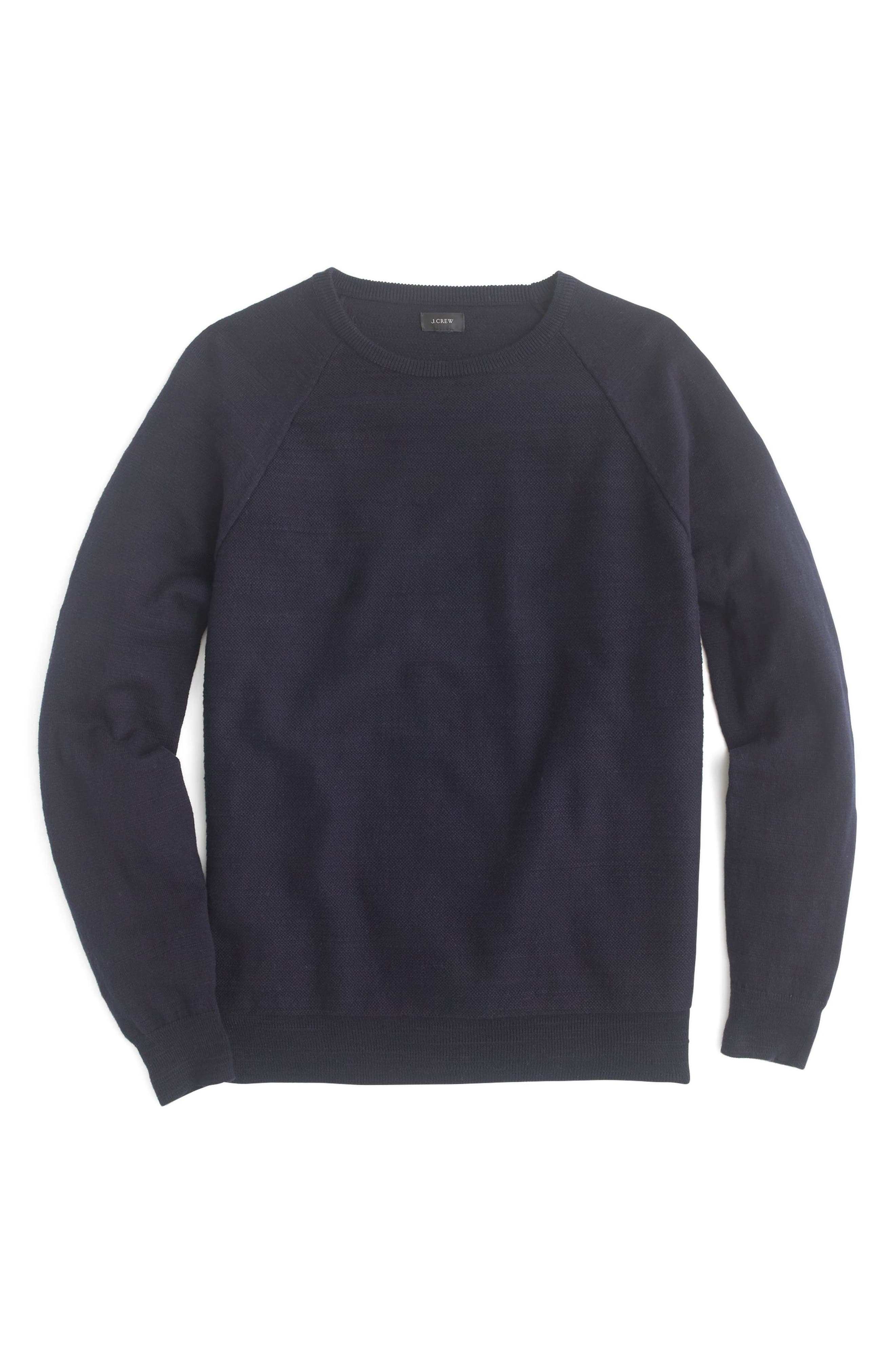 Slim Rugged Cotton Sweater,                             Main thumbnail 3, color,