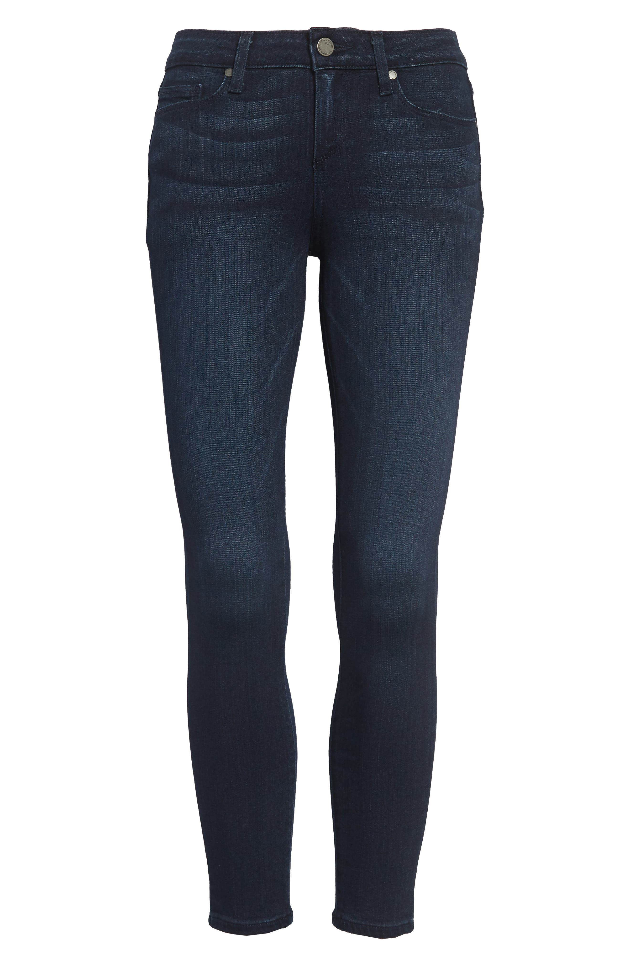 PAIGE Transcend - Verdugo Crop Skinny Jeans, Main, color, MIDLAKE