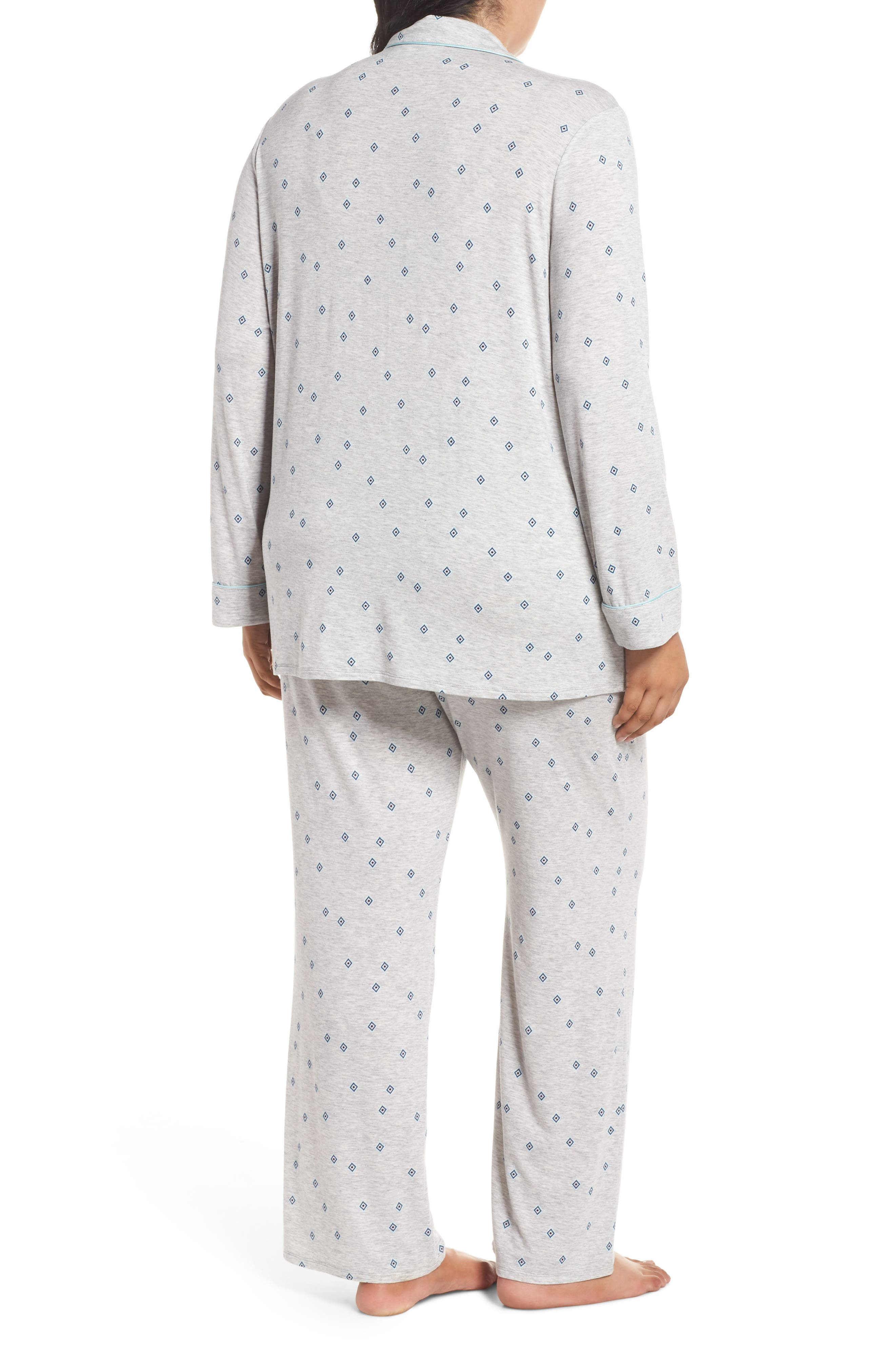 'Moonlight' Pajamas,                             Alternate thumbnail 2, color,                             GREY PEARL HTR FLIRTY FOULARD