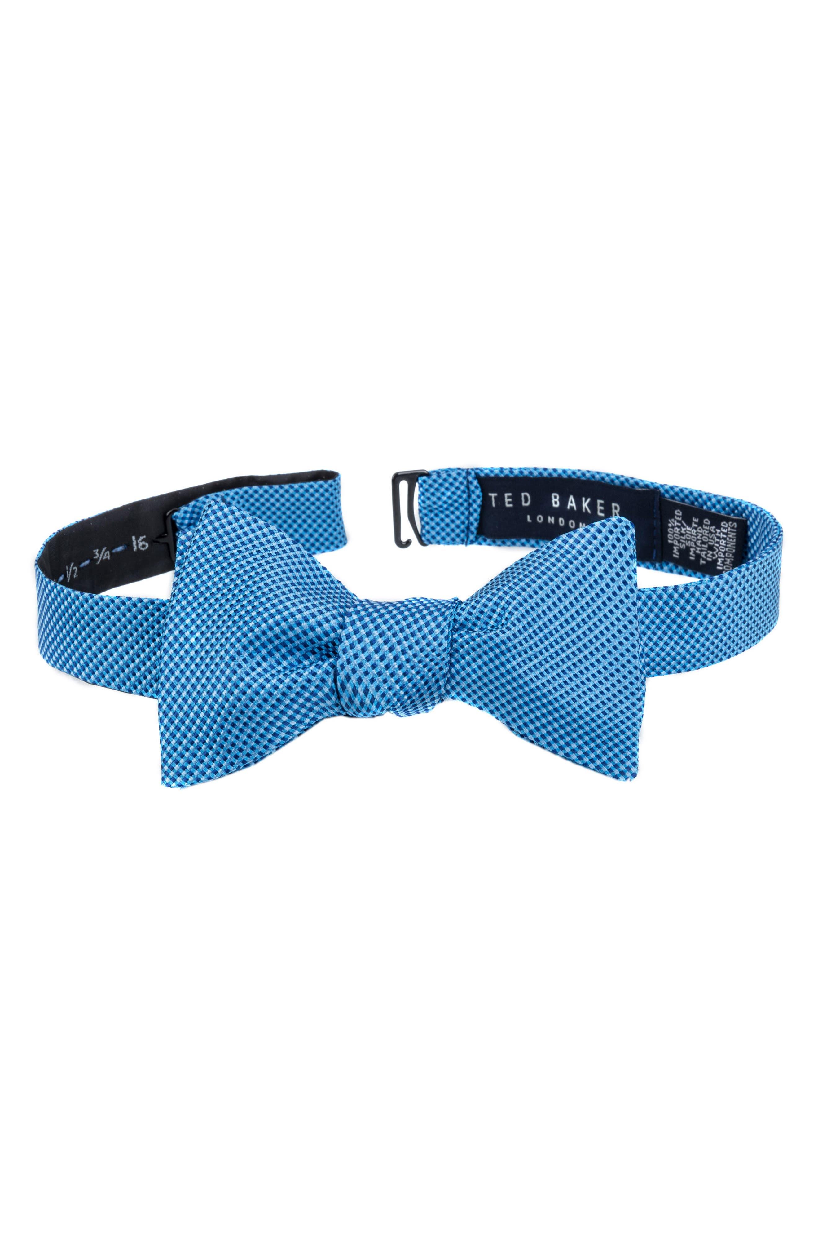Natte Check Bow Tie,                             Main thumbnail 2, color,