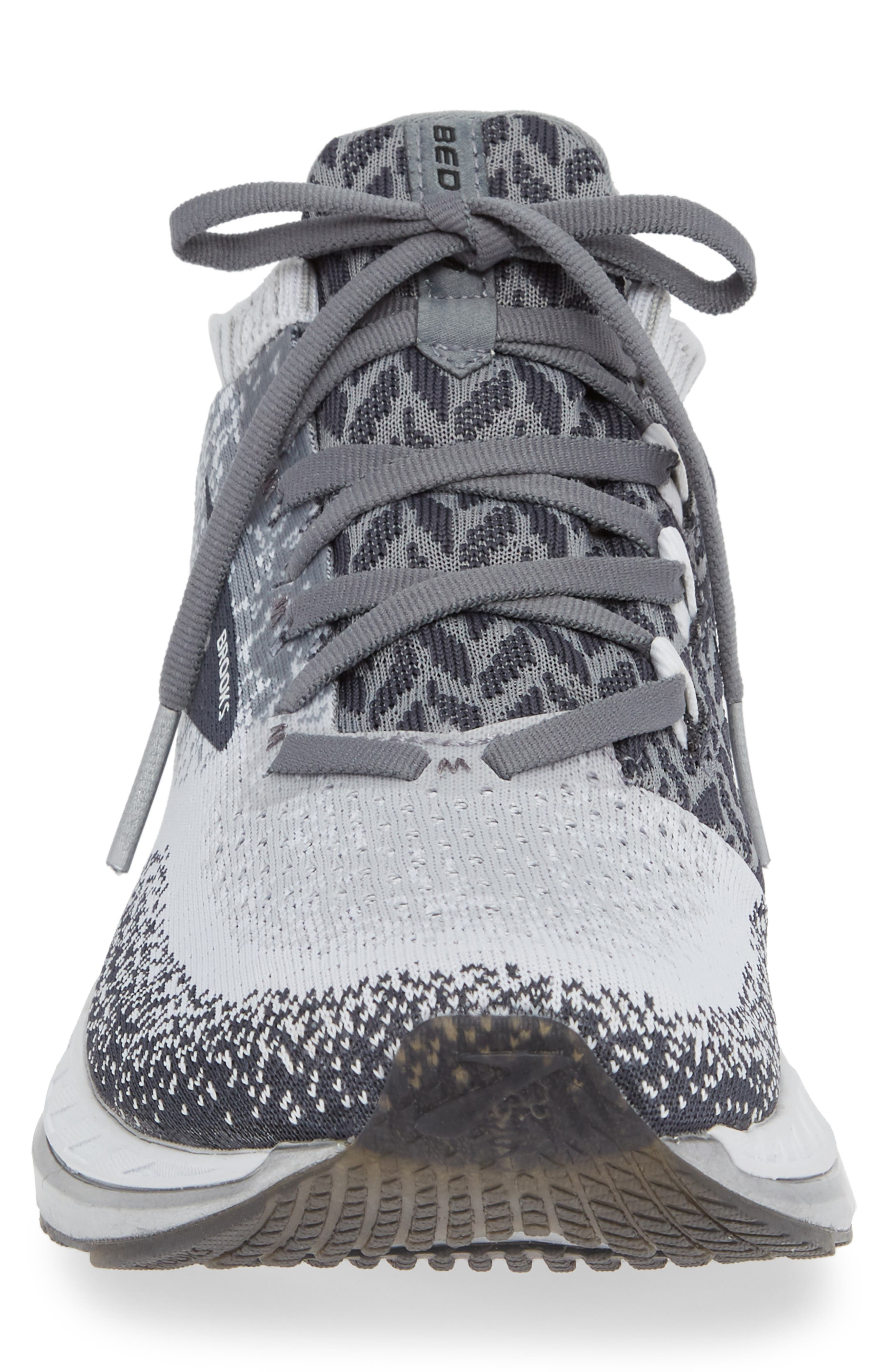 Bedlam Running Shoe,                             Alternate thumbnail 4, color,                             GREY/ WHITE/ EBONY