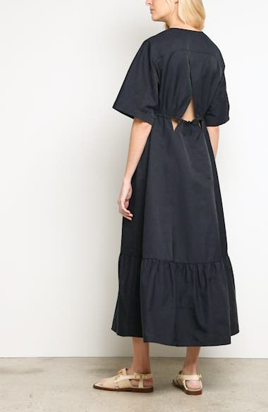 Plunging Cutout Maxi Dress, video thumbnail