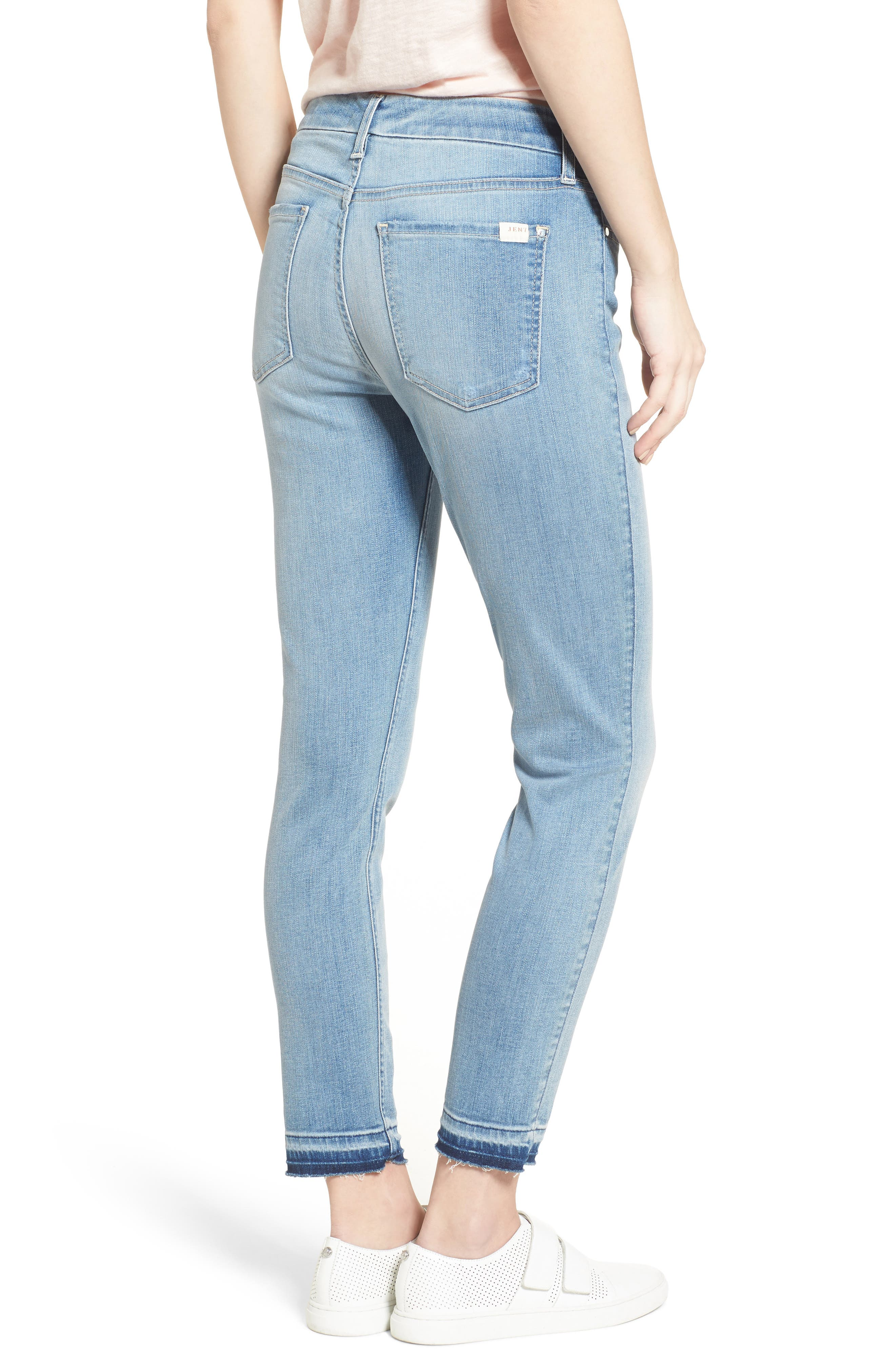 Release Hem Stretch Ankle Skinny Jeans,                             Alternate thumbnail 5, color,