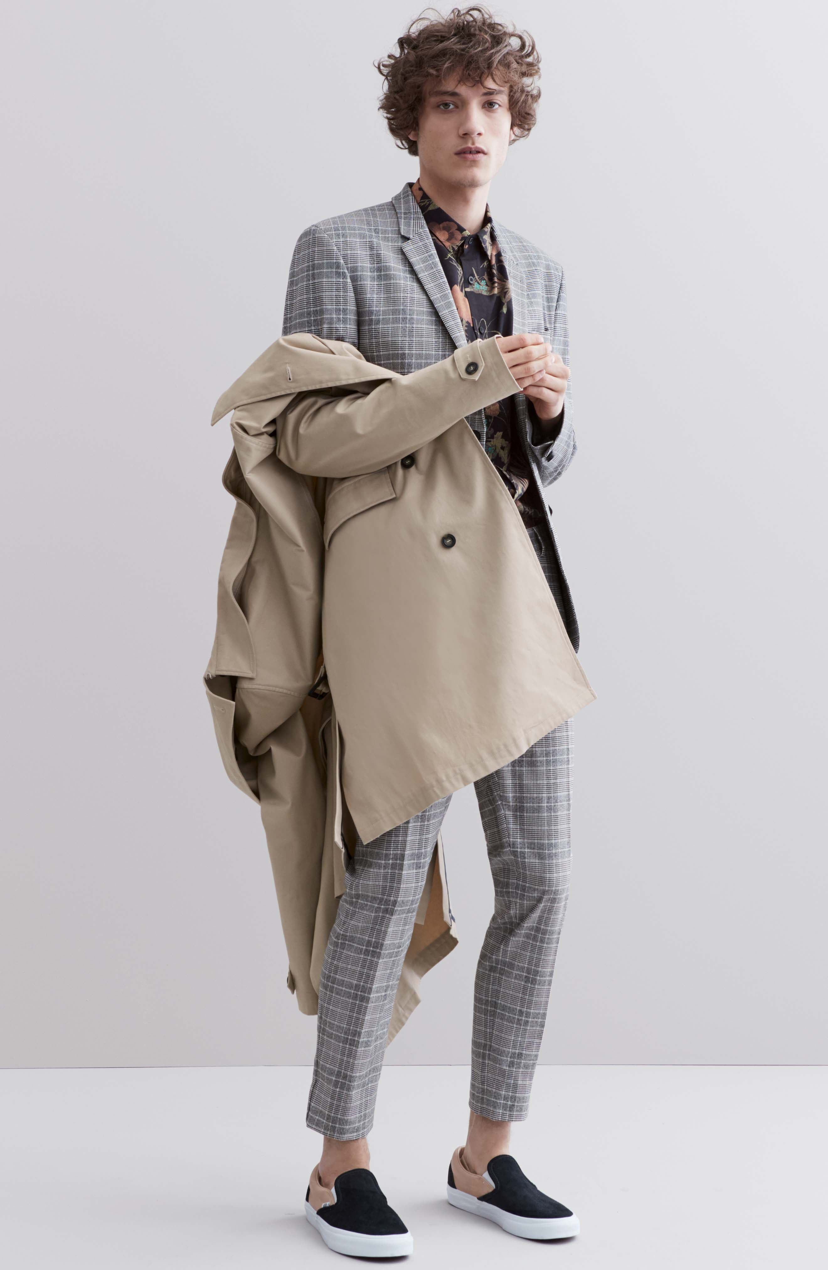 Peached Trench Coat,                             Alternate thumbnail 10, color,                             STONE
