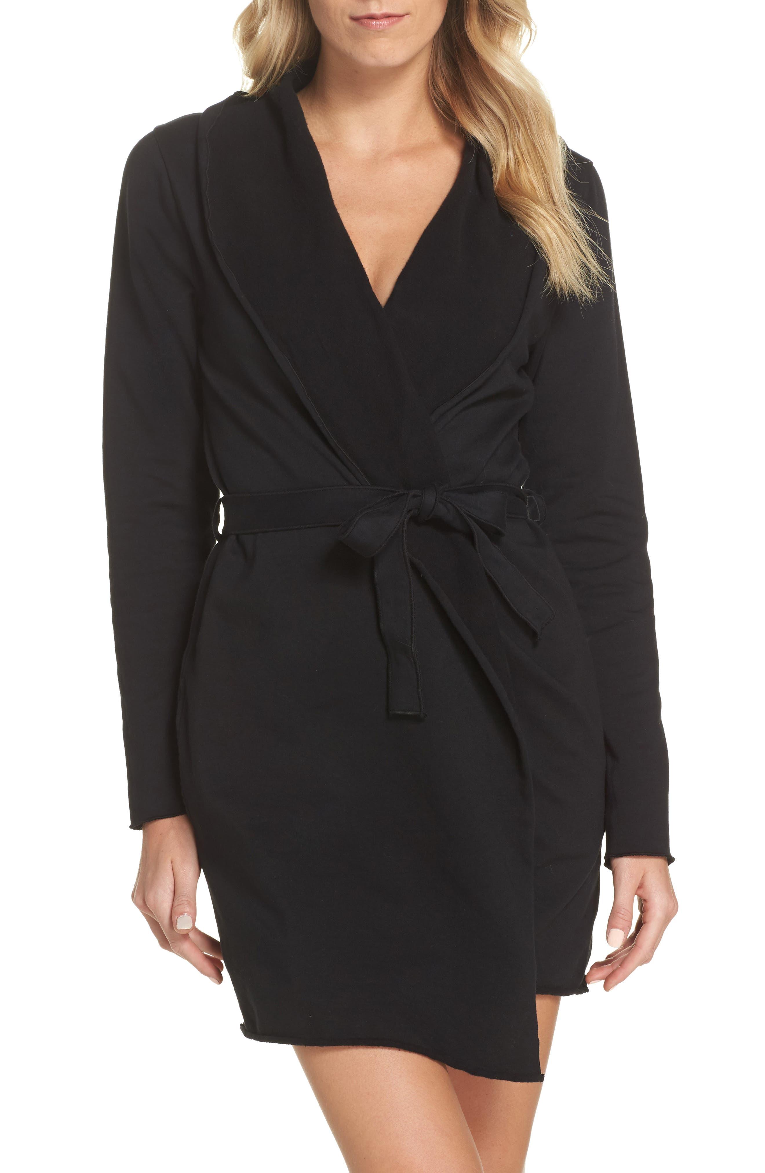 Willa Fleece Short Robe,                         Main,                         color,