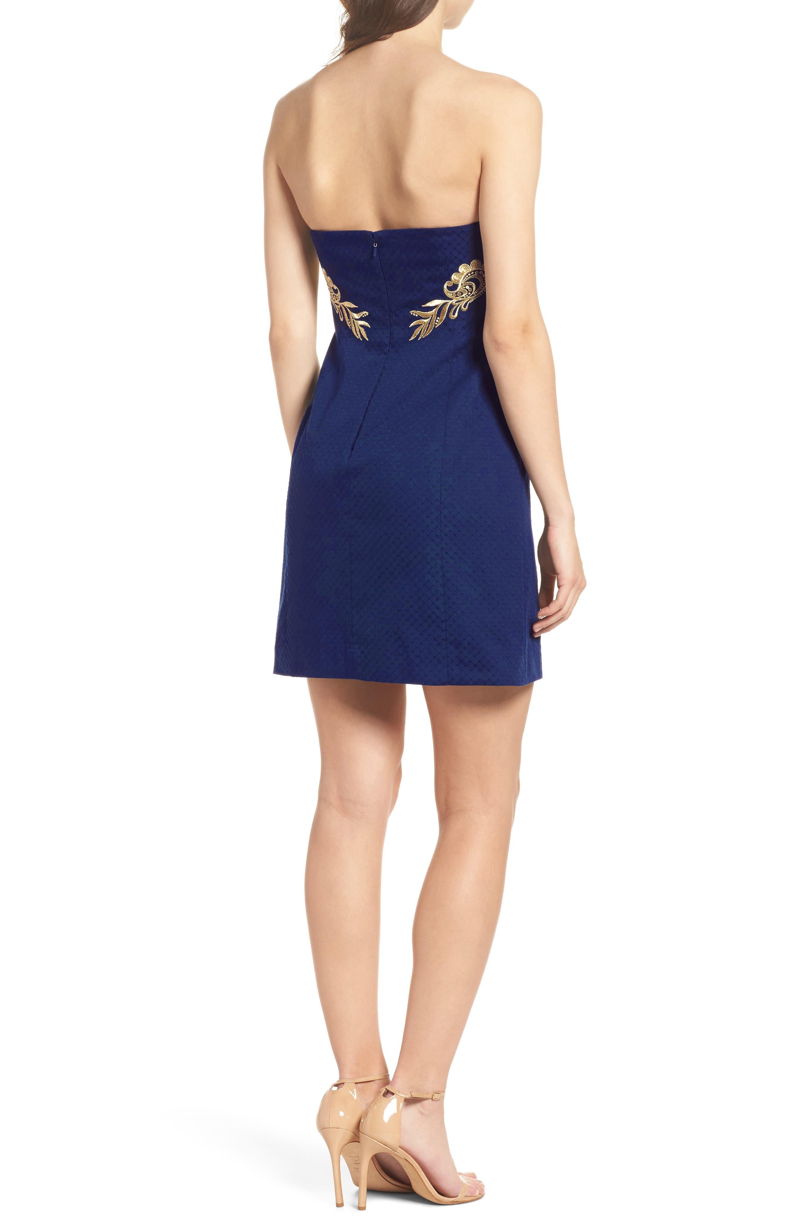 Demi Strapless Dress,                             Alternate thumbnail 2, color,