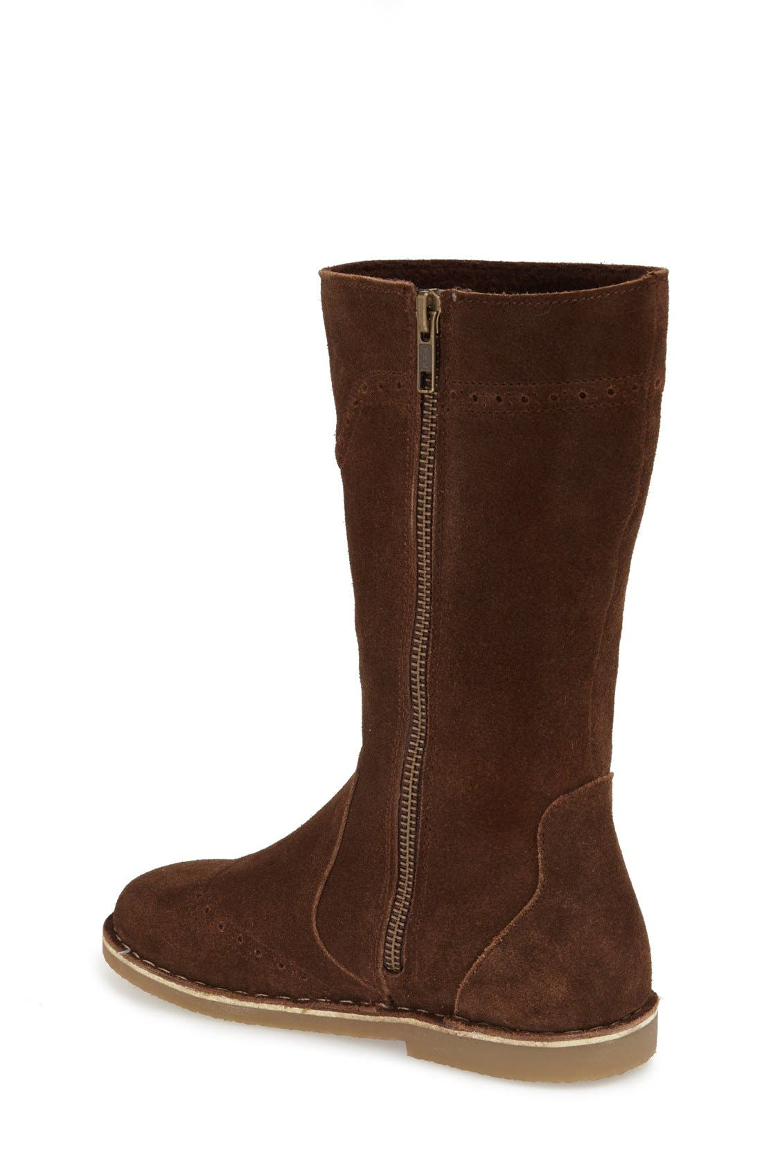 Tall Leather Boot,                             Alternate thumbnail 9, color,