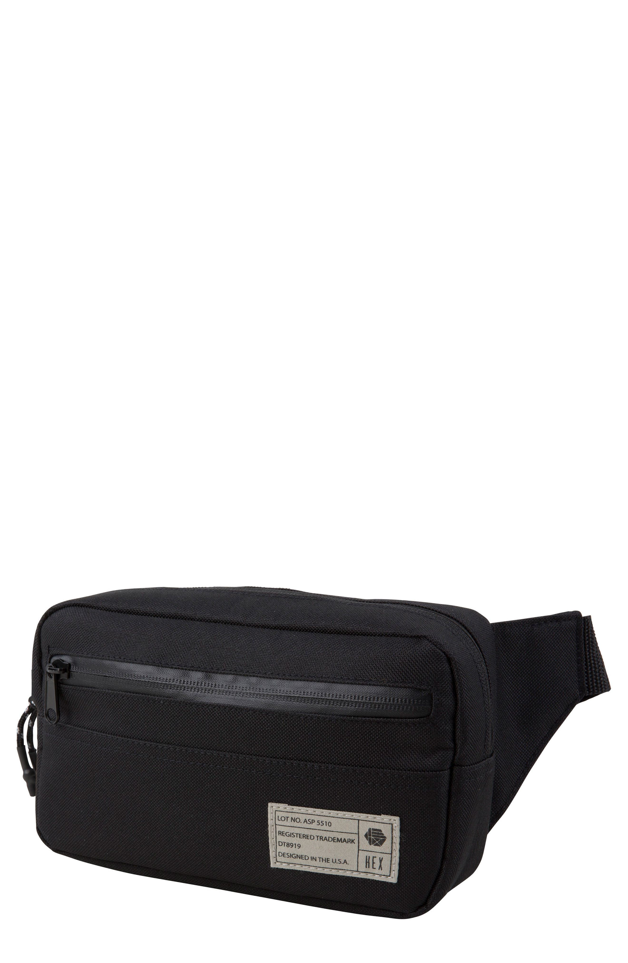 Belt Bag,                         Main,                         color, ASPECT BLACK