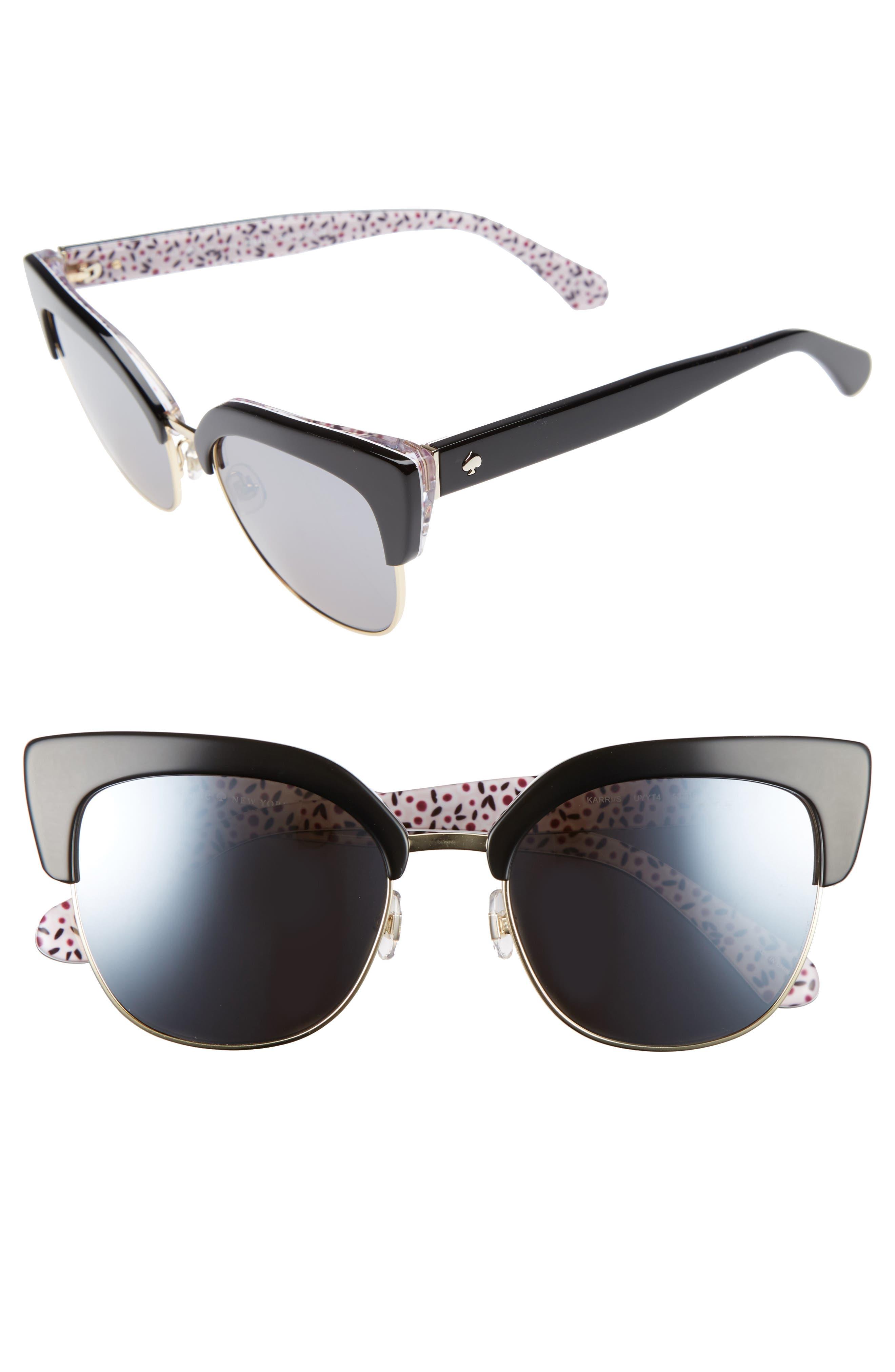 karri 53mm sunglasses,                         Main,                         color, 001