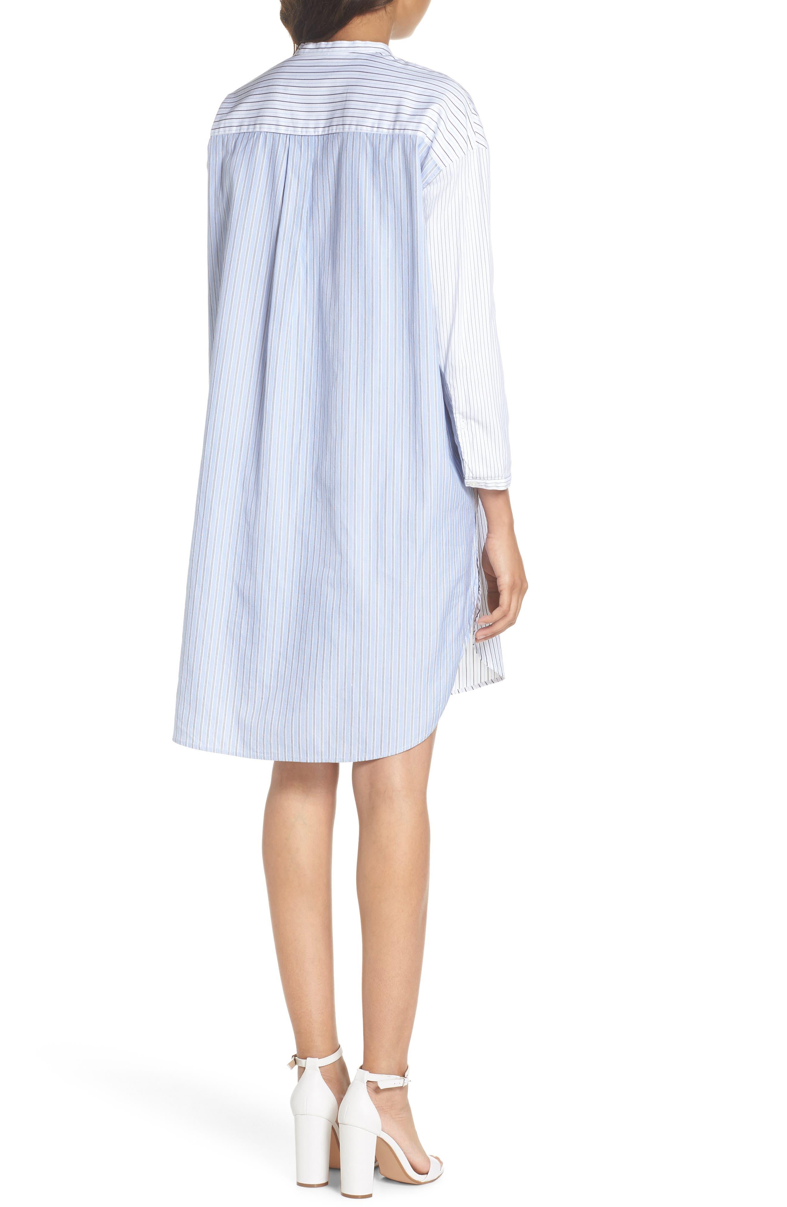 Tia Stripe Shirtdress,                             Alternate thumbnail 2, color,                             160