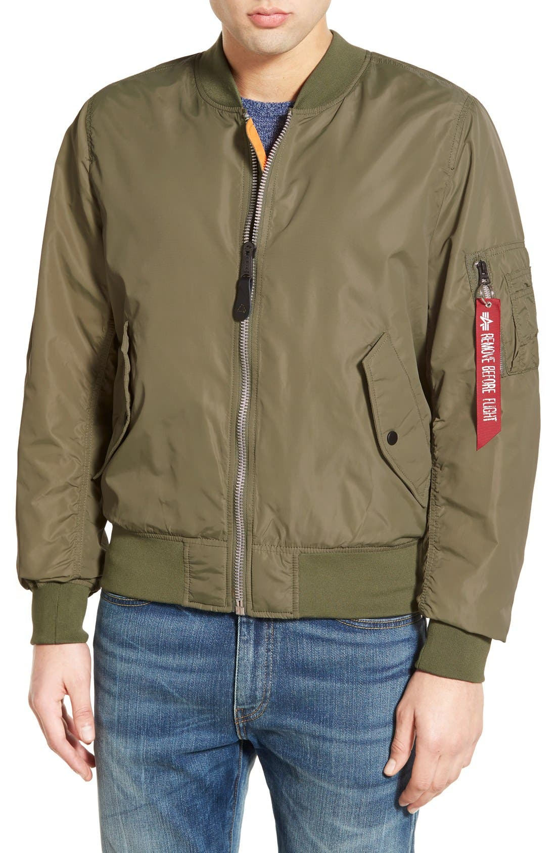LB-2 Scout Reversible Flight Jacket,                             Main thumbnail 6, color,