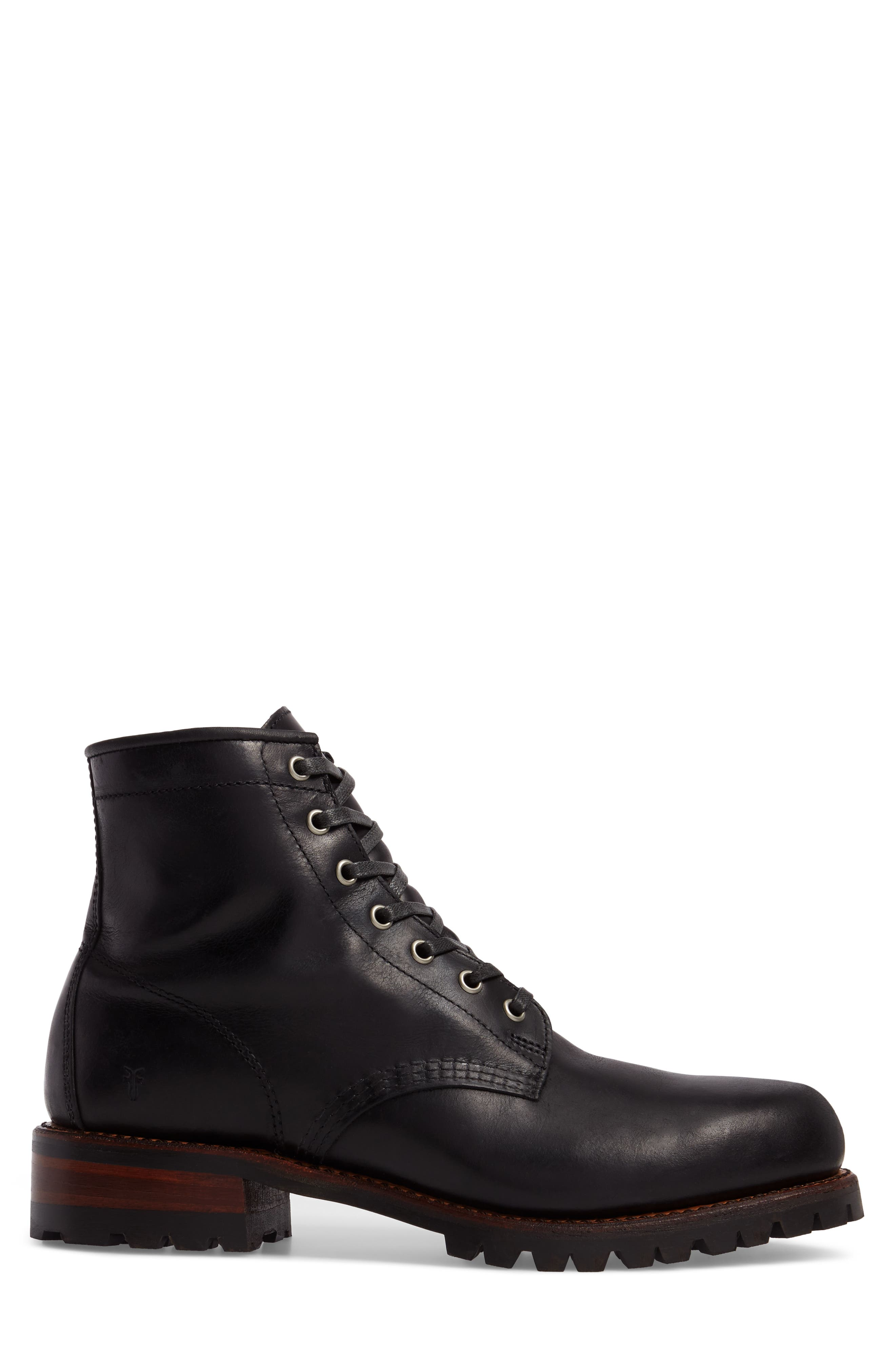 Addison Lace-Up Boot,                             Alternate thumbnail 3, color,                             001