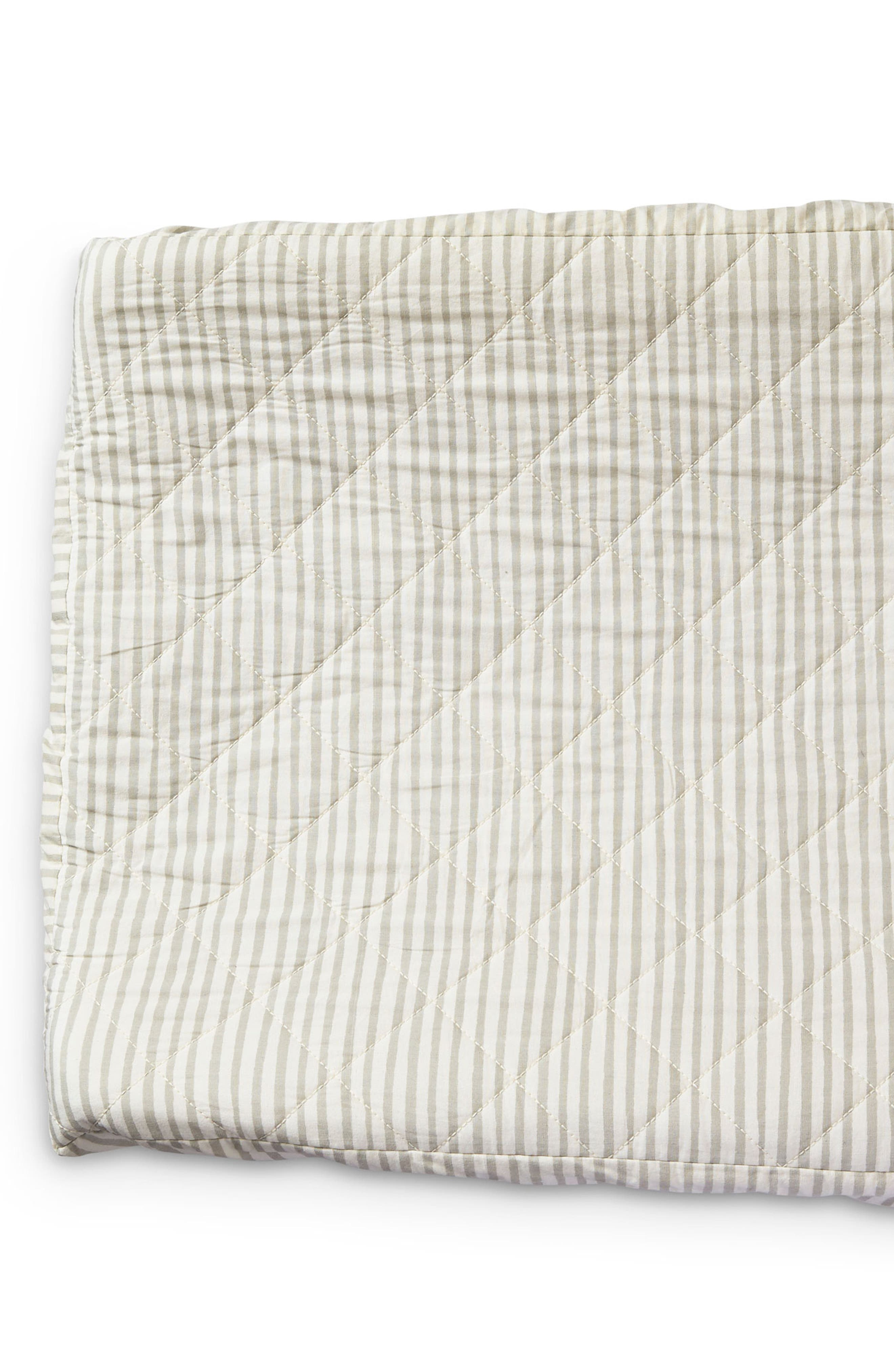 PEHR,                             Stripes Away Changing Pad Cover,                             Alternate thumbnail 2, color,                             PEBBLE