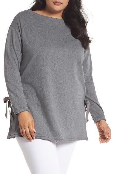 e2aa6d3f20373 Caslon® Side Tie Cotton Tunic Top (Plus Size)
