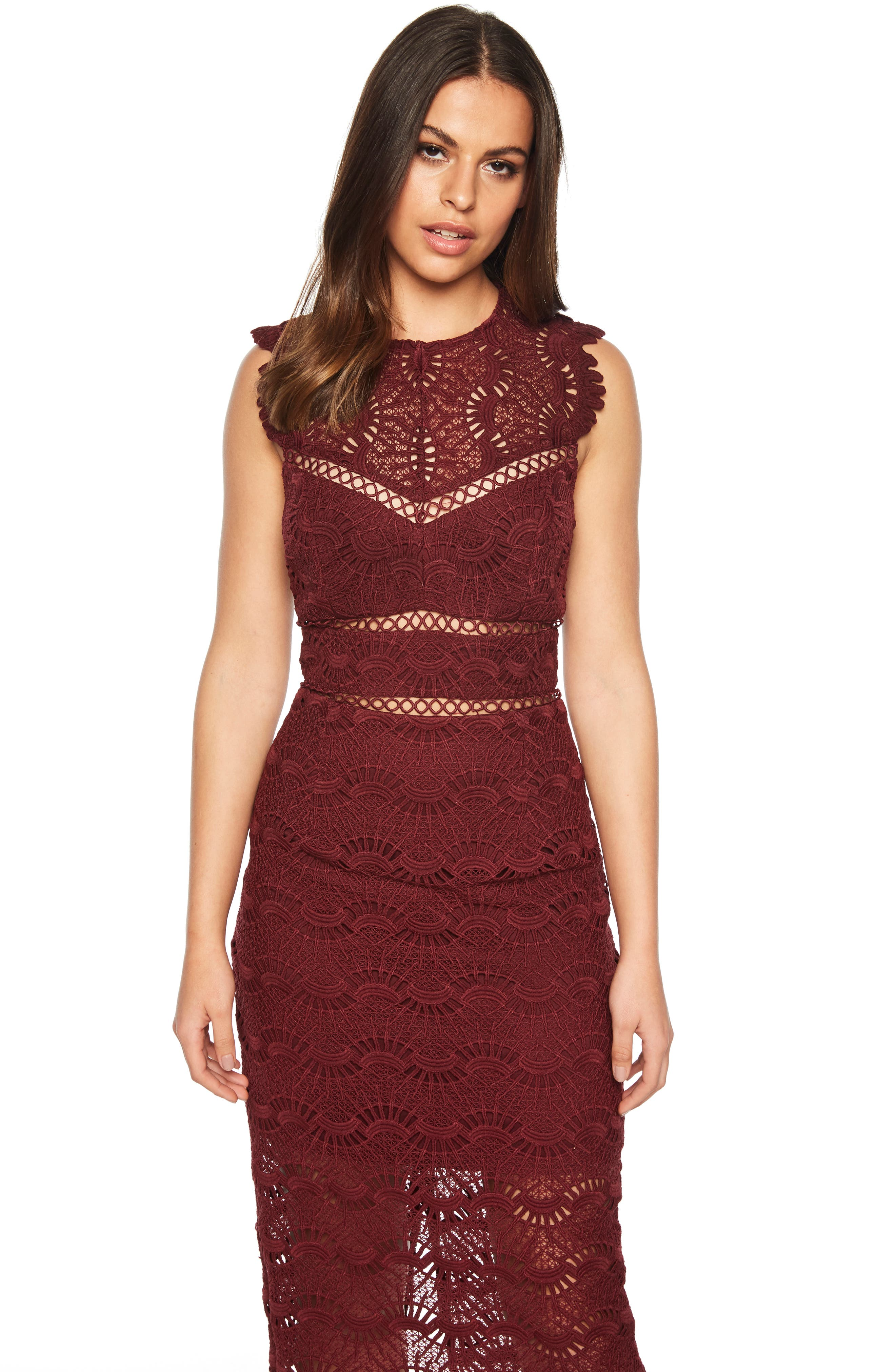 Mariano Lace Sheath Dress,                             Alternate thumbnail 9, color,                             601