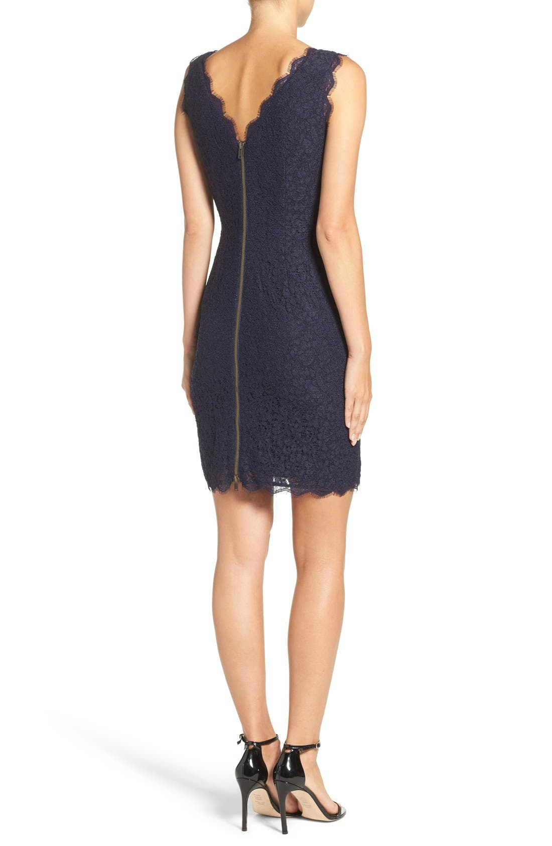 Boatneck Lace Sheath Dress,                             Alternate thumbnail 77, color,