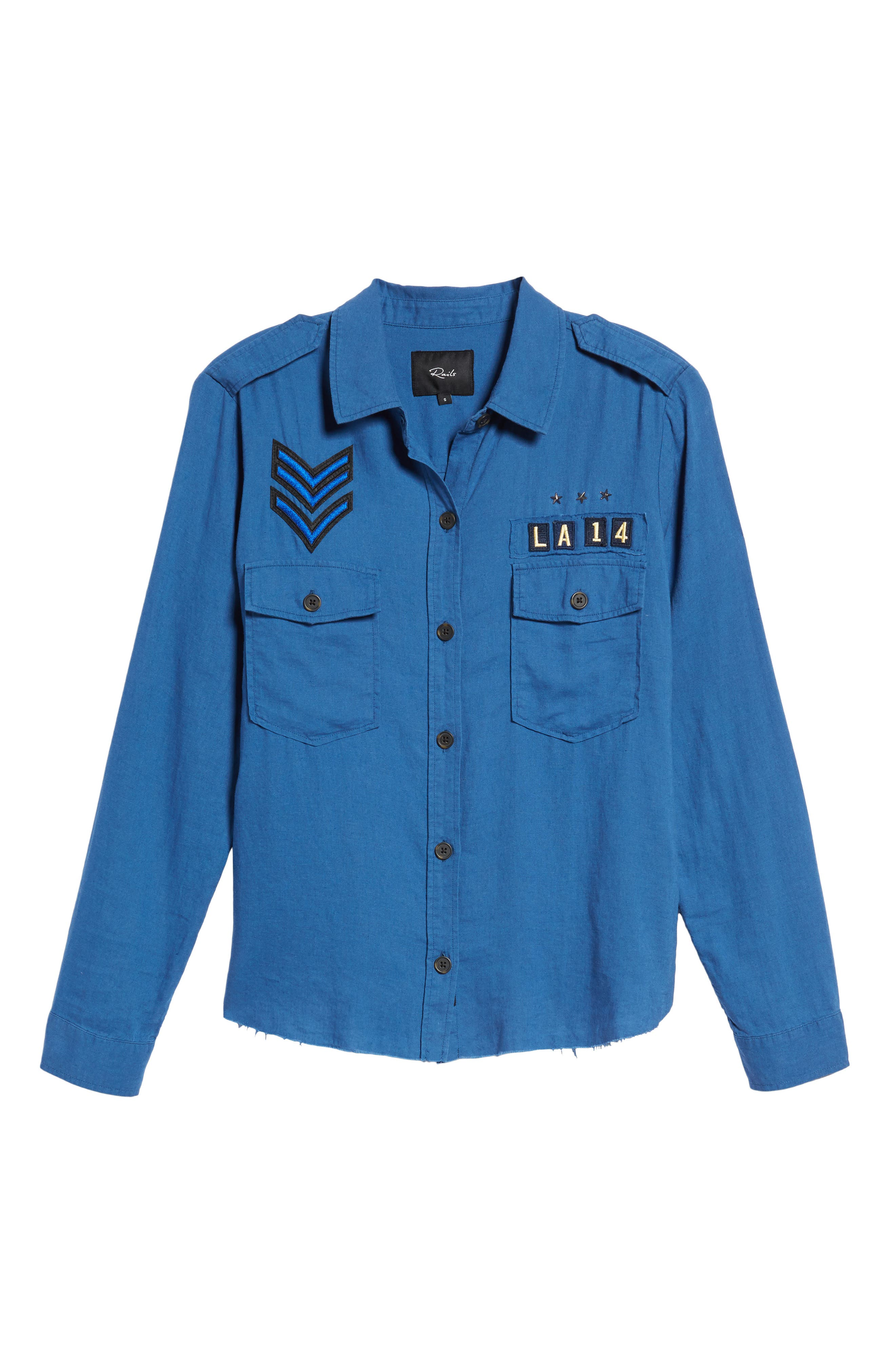 Banks Military Patch Shirt,                             Alternate thumbnail 6, color,                             439