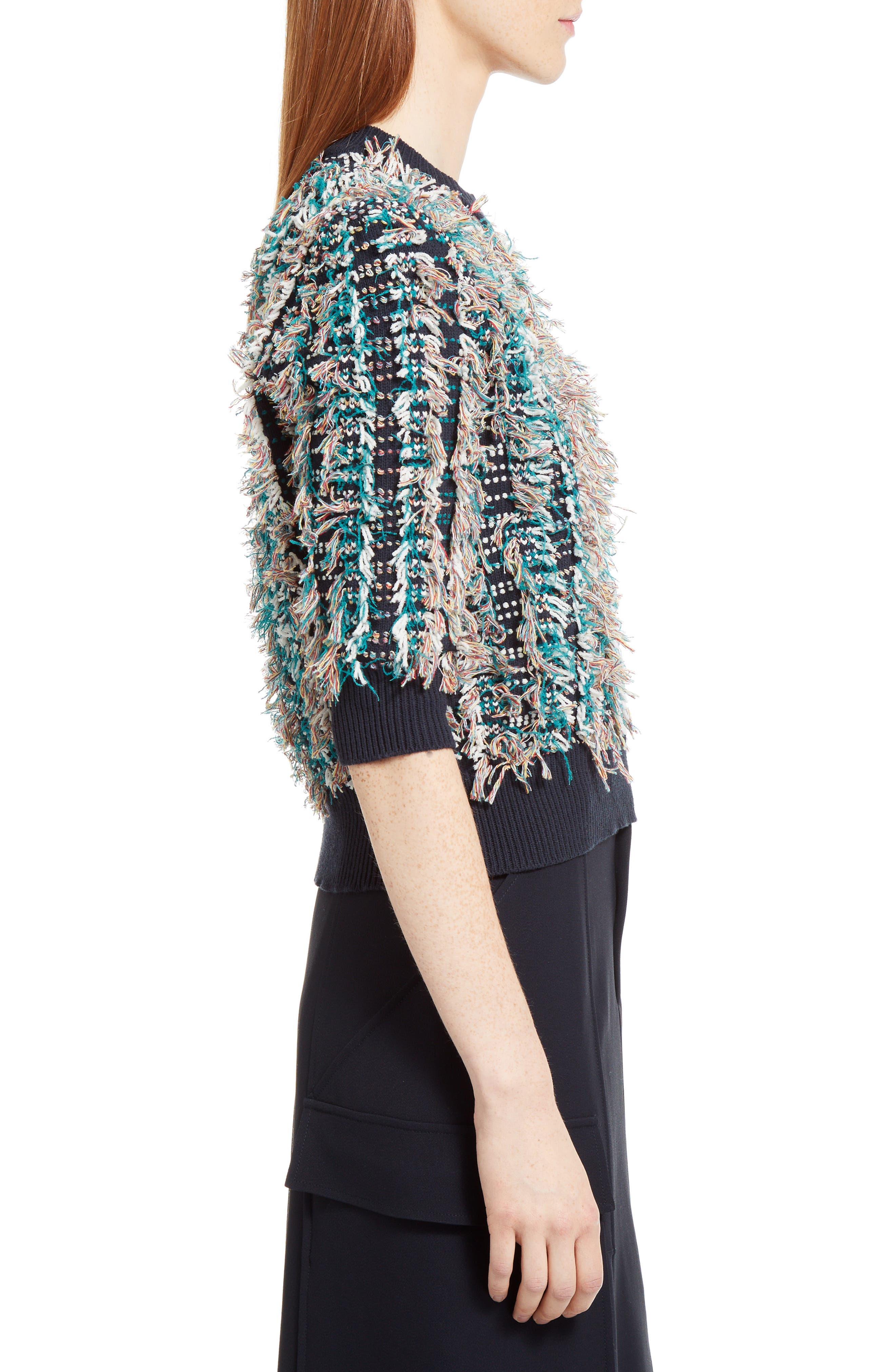 Fringe Knit Sweater,                             Alternate thumbnail 3, color,                             400
