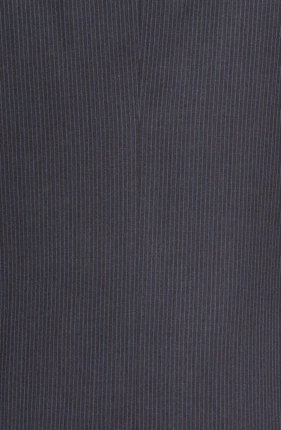 Trim Fit Stripe Wool Suit,                             Alternate thumbnail 7, color,                             025