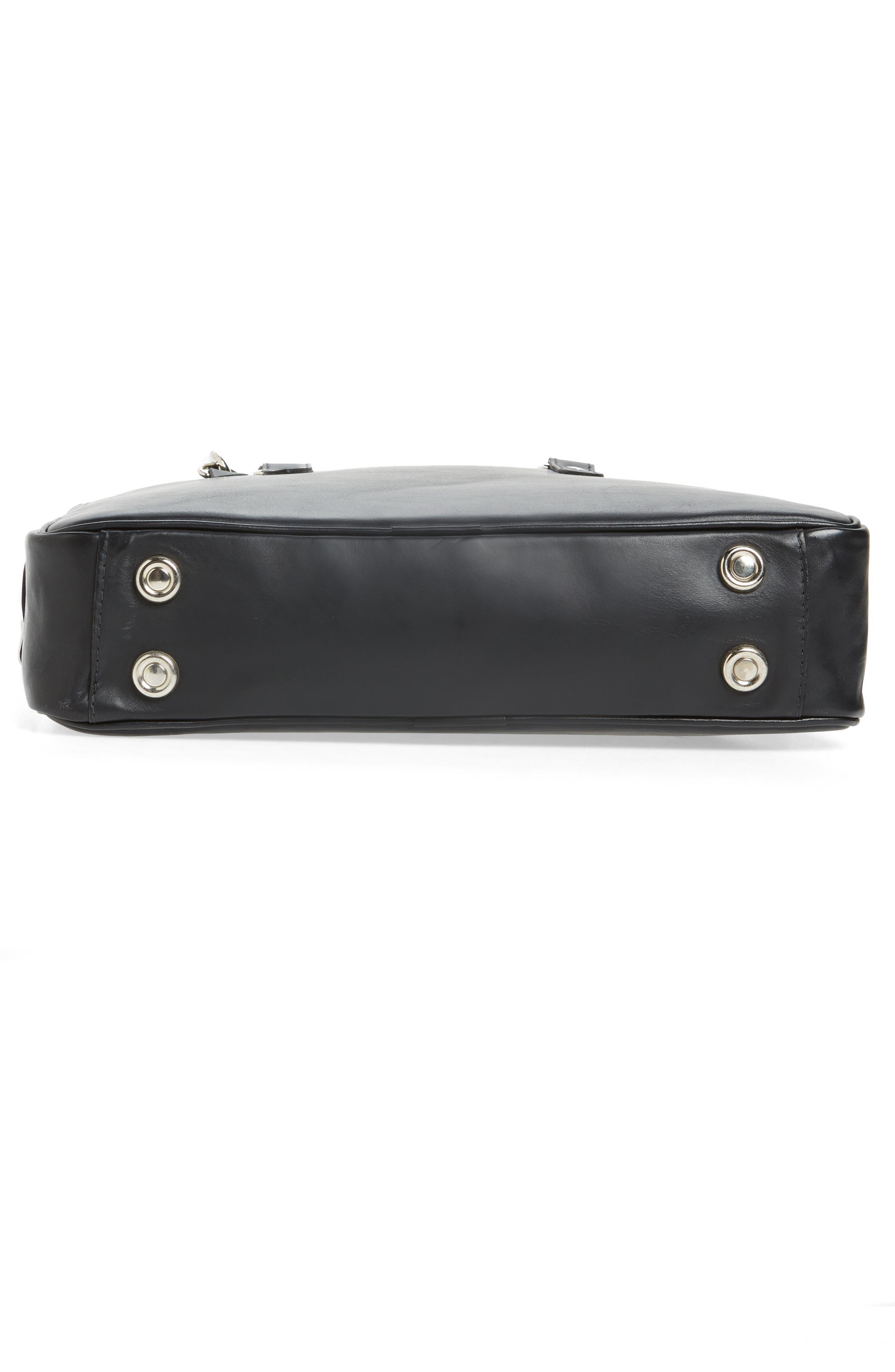 New Roxburgh Leather Briefcase,                             Alternate thumbnail 6, color,                             NERO