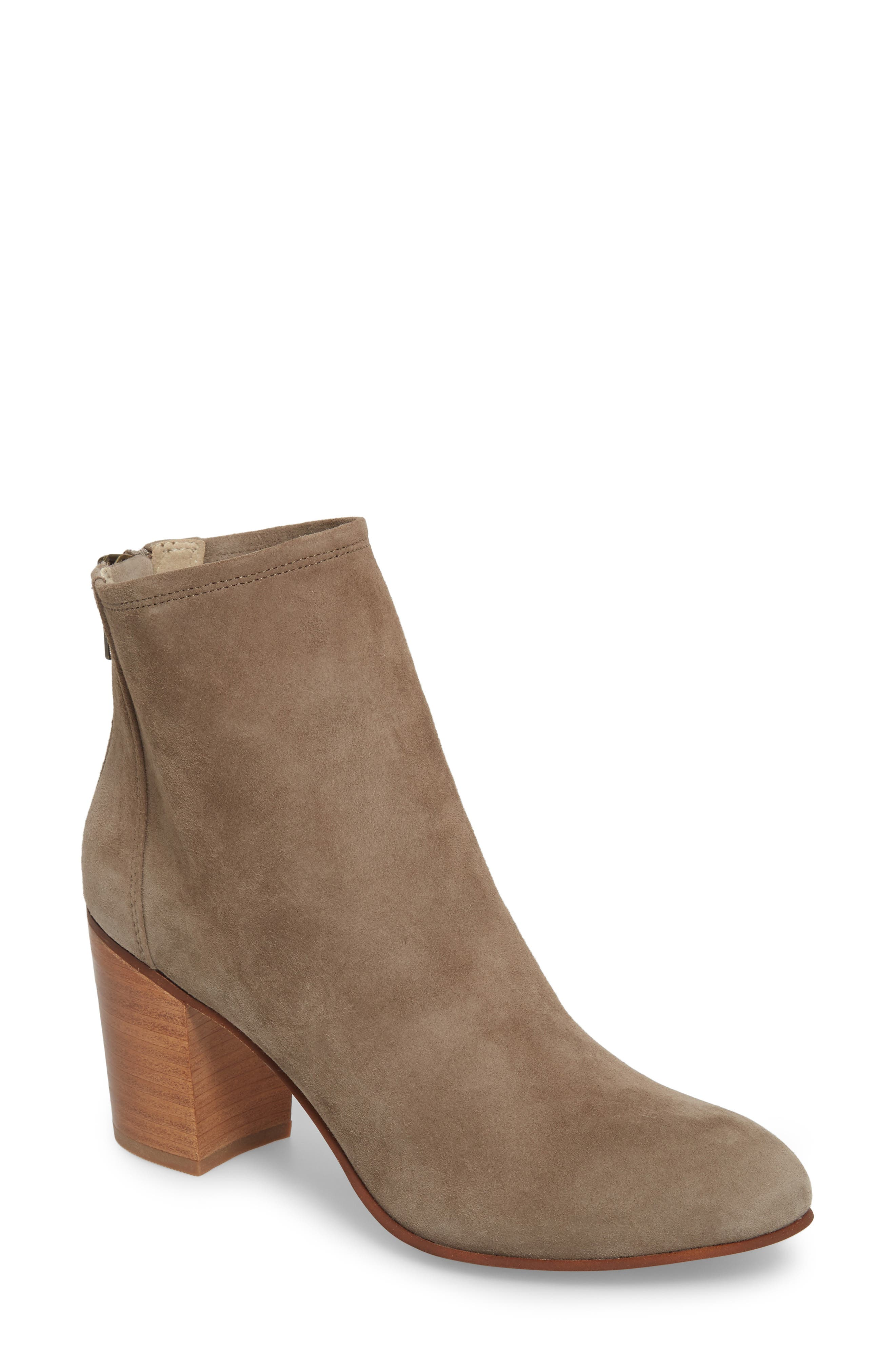 Tawny Bootie,                             Main thumbnail 1, color,                             GREY SUEDE