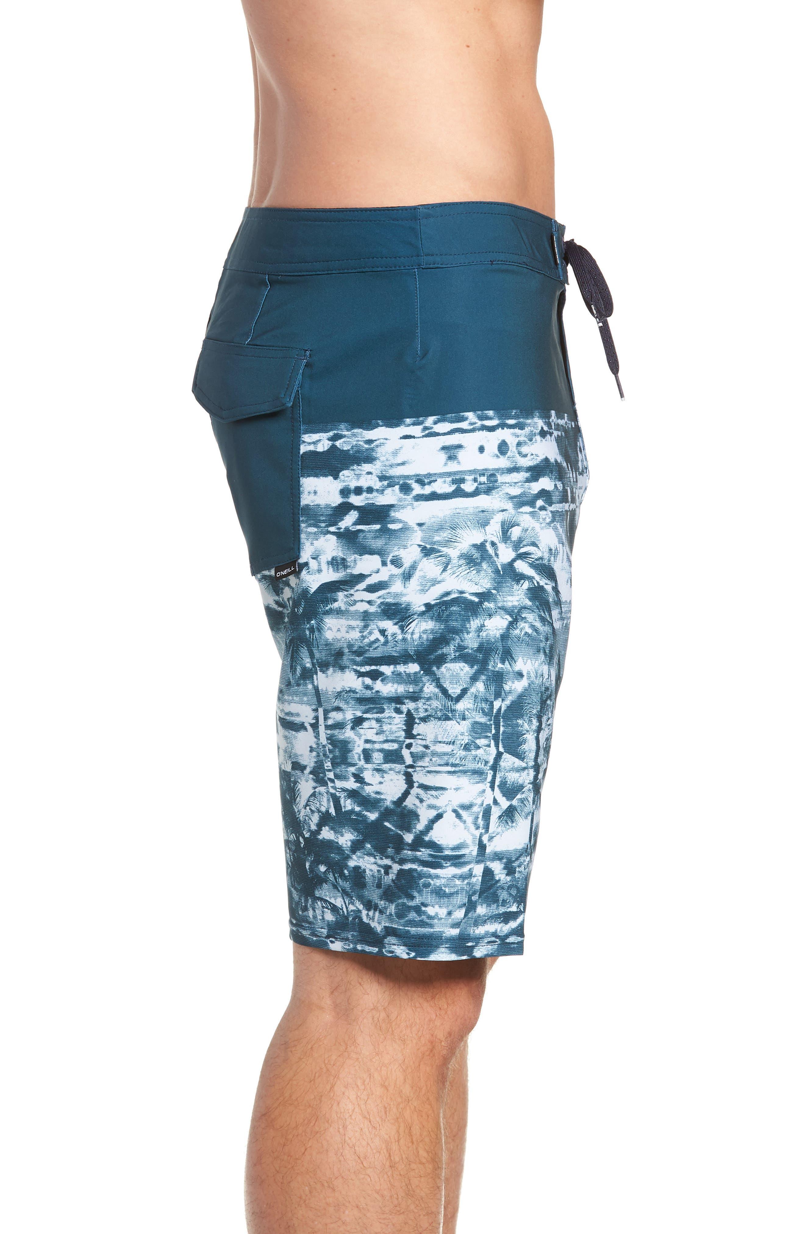 Hyperfreak Vietpalm Board Shorts,                             Alternate thumbnail 4, color,                             DARK BLUE