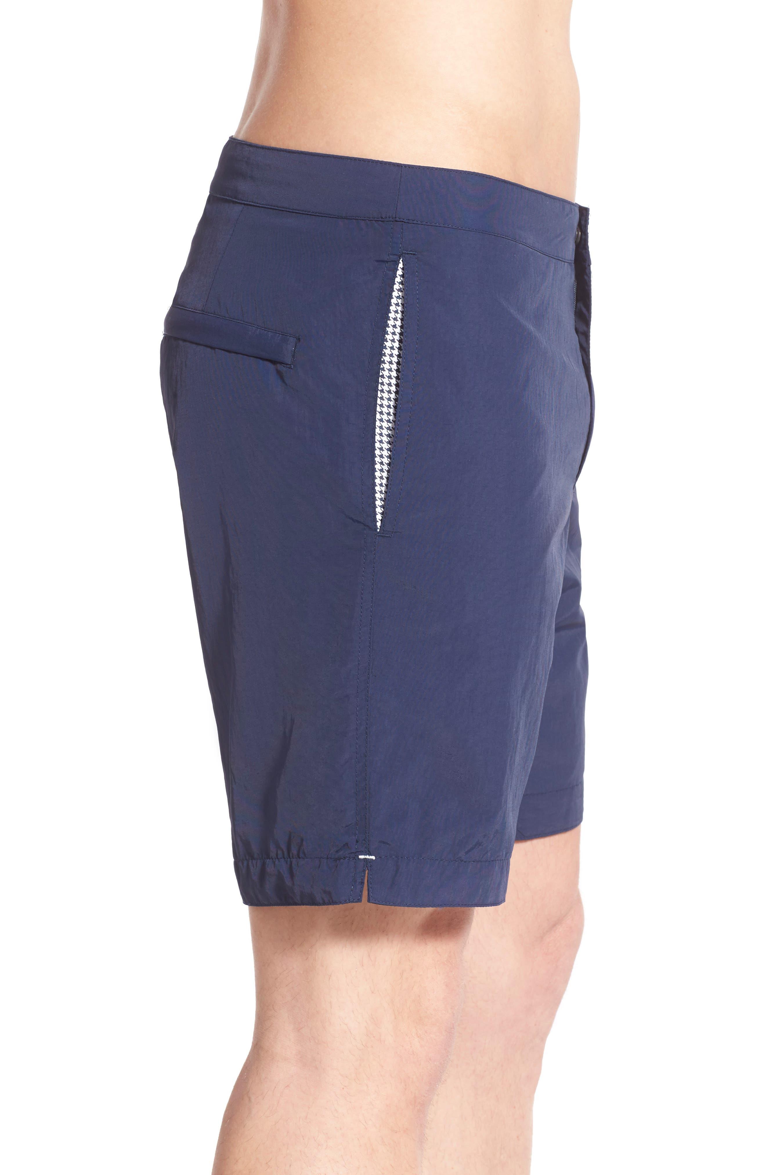 Aruba Tailored Fit 8.5 Inch Swim Trunks,                             Alternate thumbnail 4, color,                             415