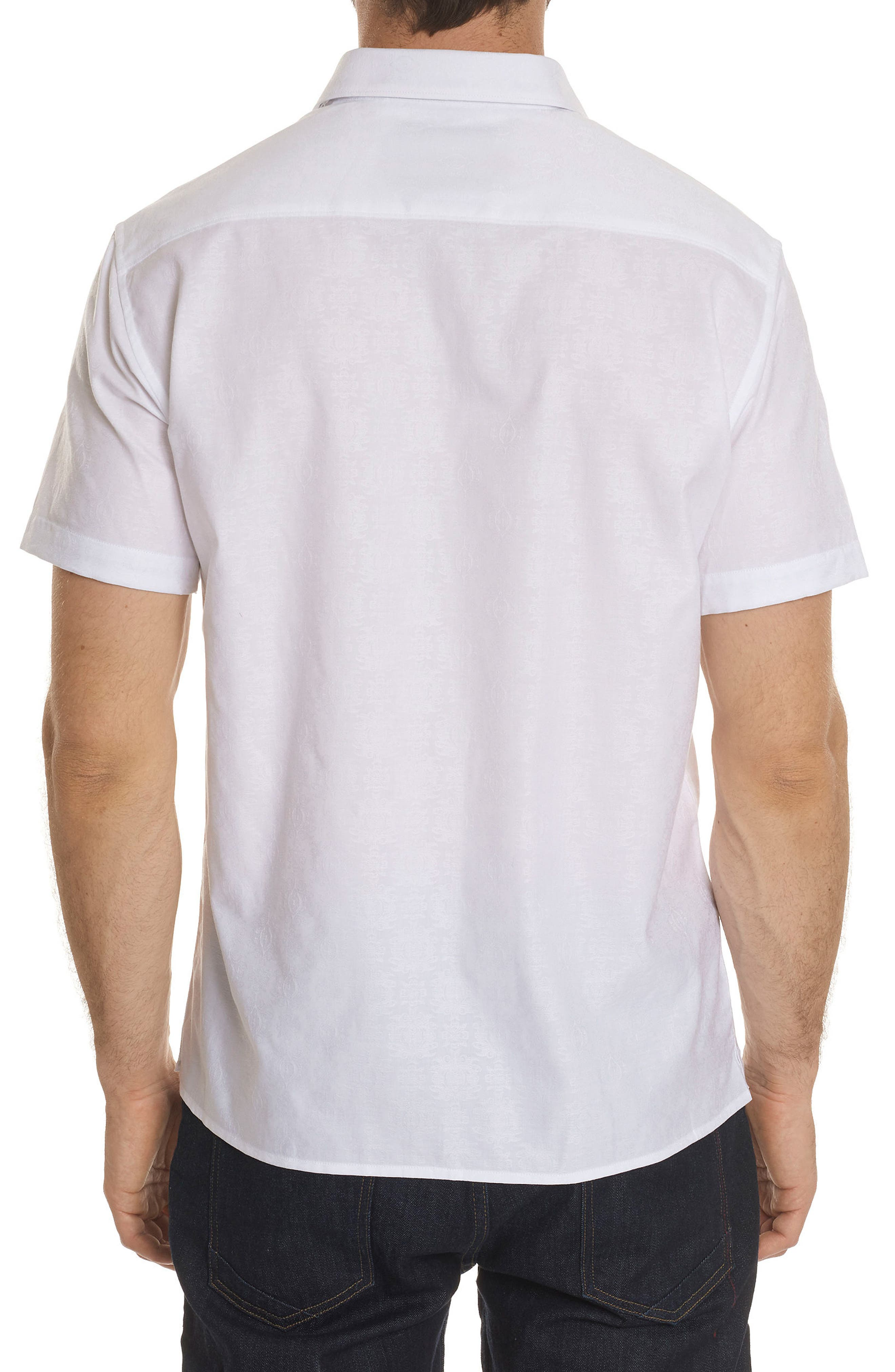 Cullen Squared Regular Fit Short Sleeve Sport Shirt,                             Alternate thumbnail 2, color,                             100