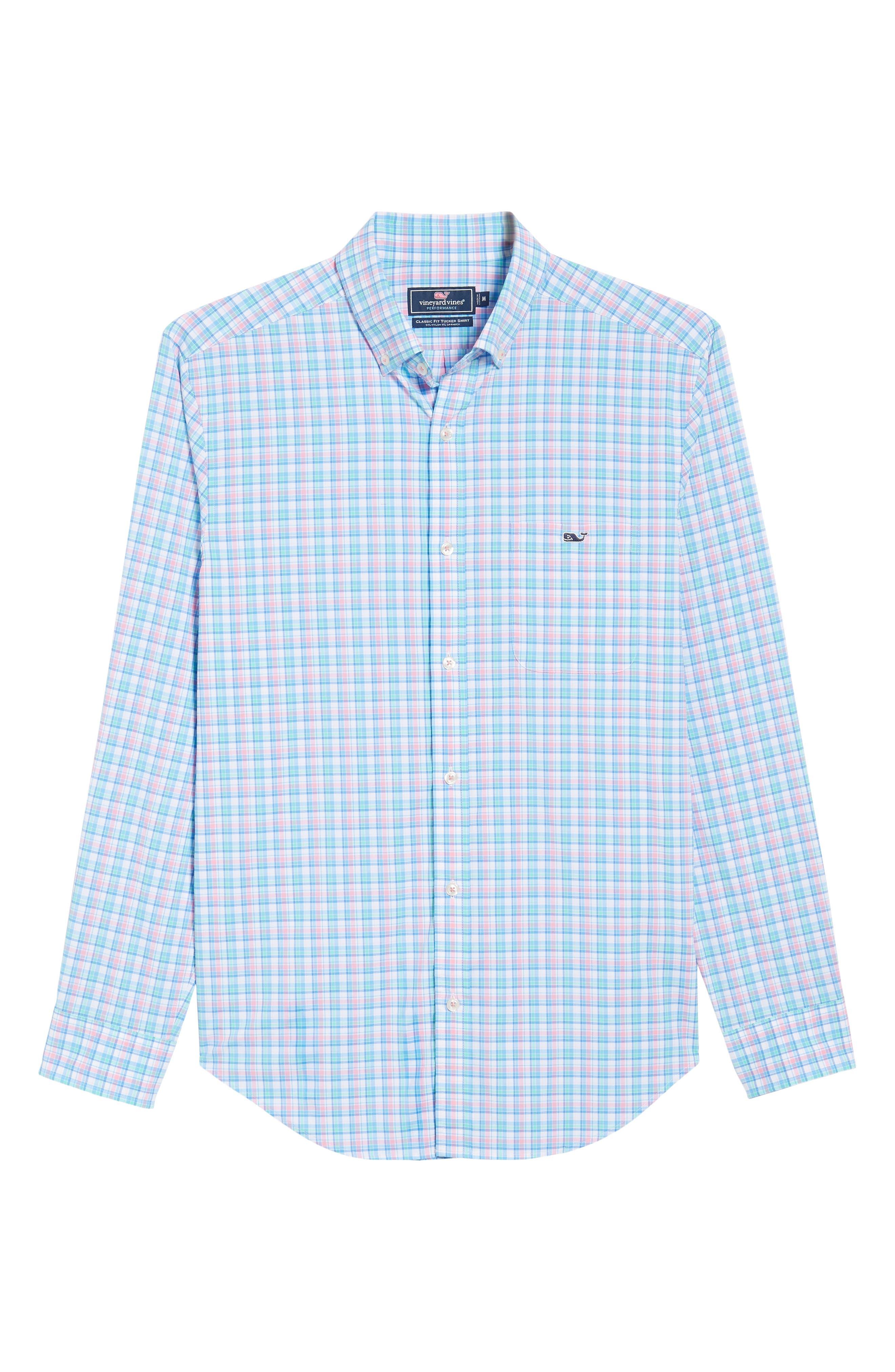 Tiki Bar Plaid Classic Fit Sport Shirt,                             Alternate thumbnail 6, color,                             650