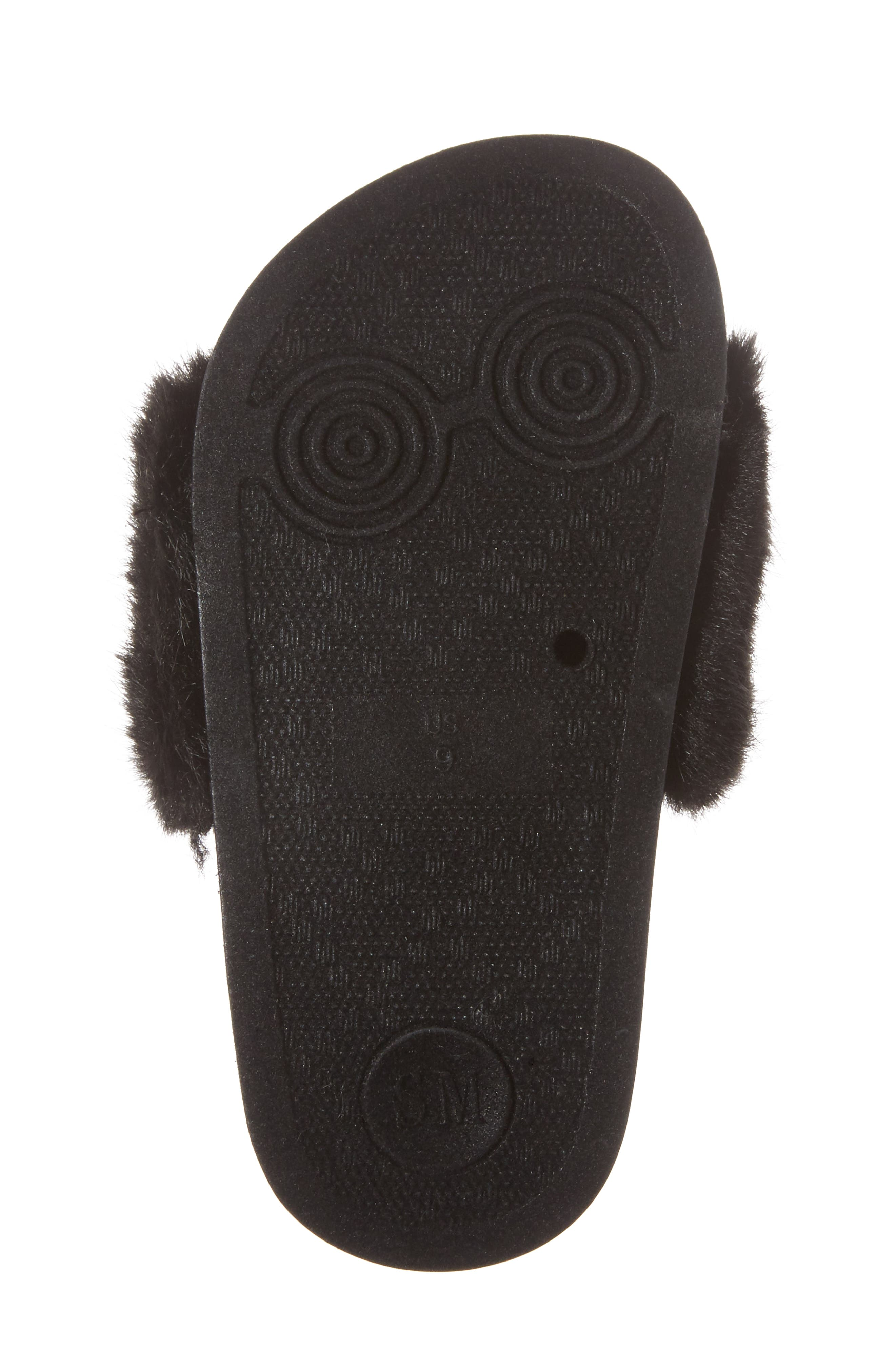 Tsoftey Faux Fur Slide Sandal,                             Alternate thumbnail 6, color,                             006