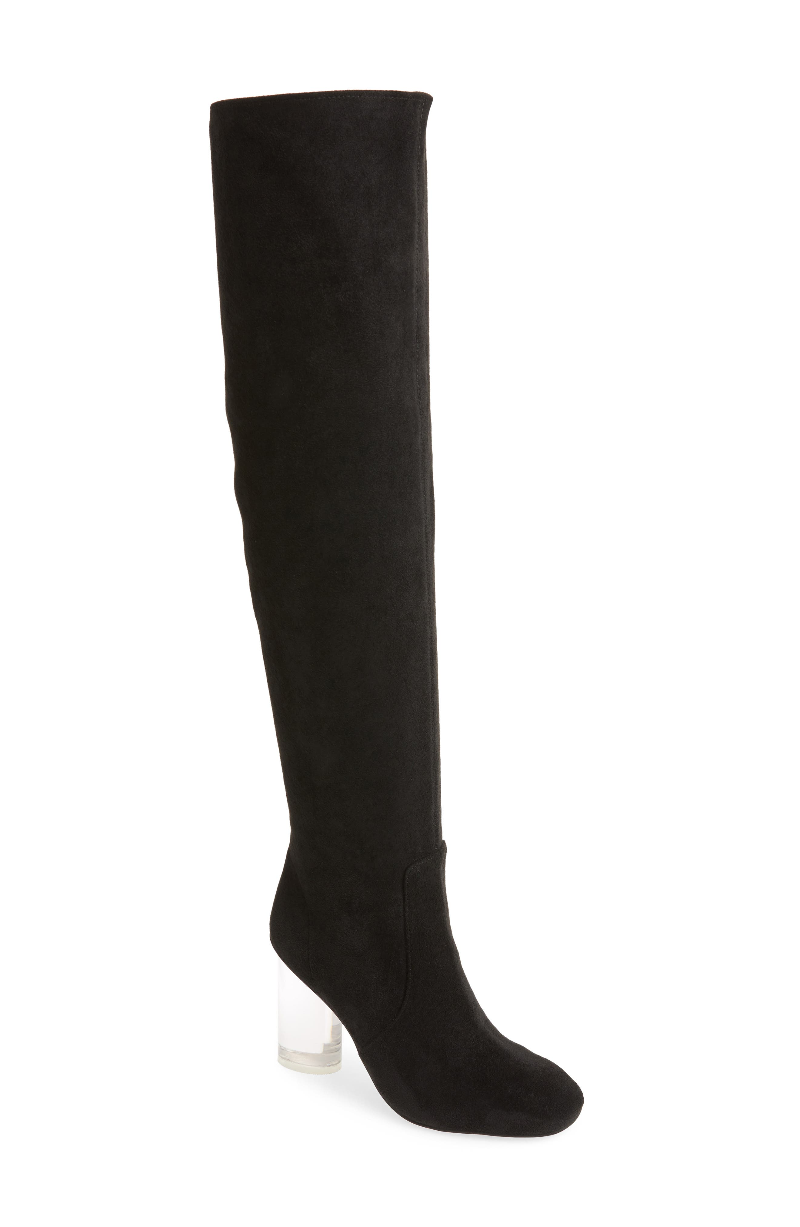 Jeffrey Campbell Perou-Lh Over The Knee Boot, Black