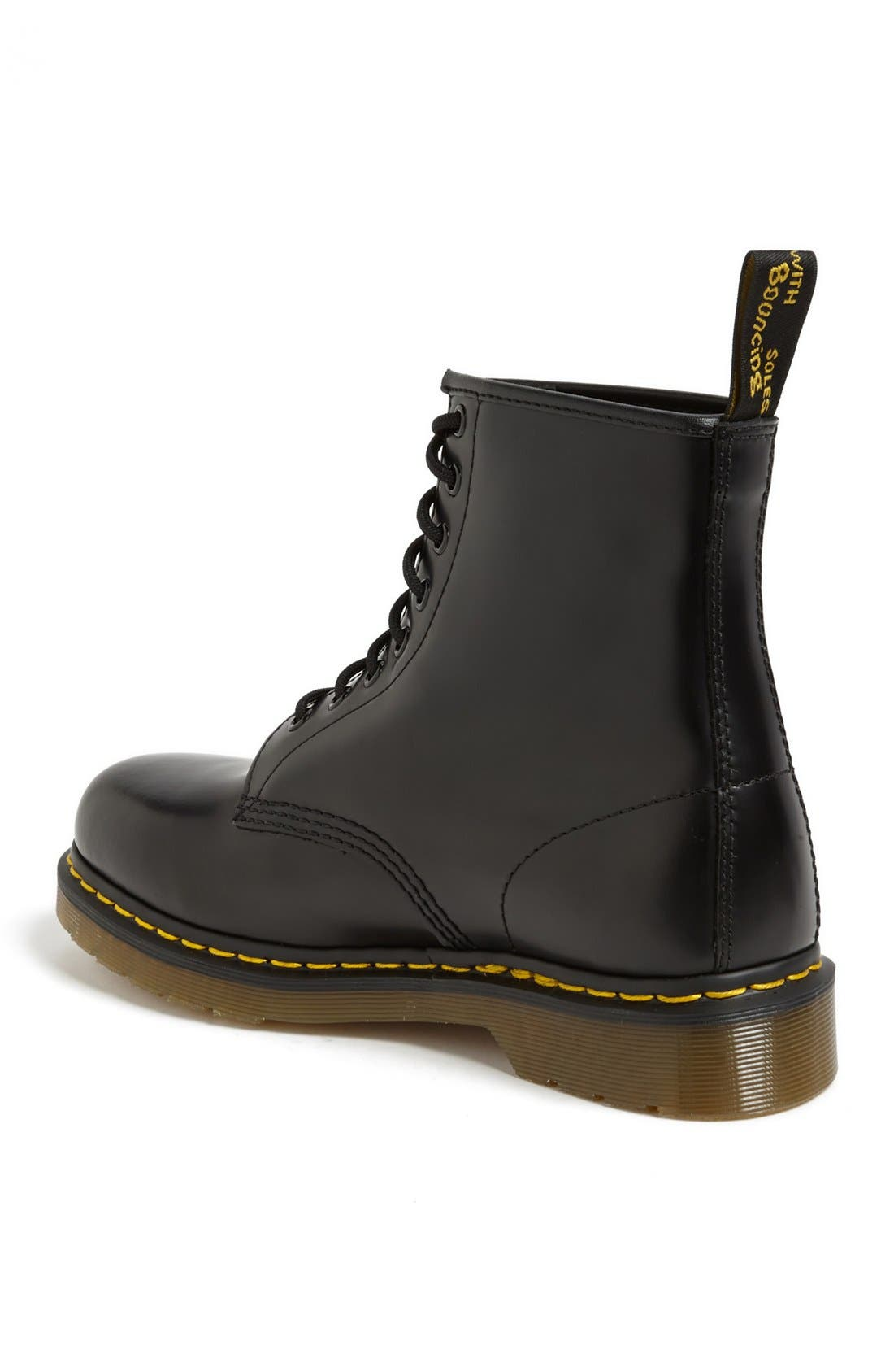 '1460' Boot,                             Alternate thumbnail 3, color,                             BLACK SMOOTH