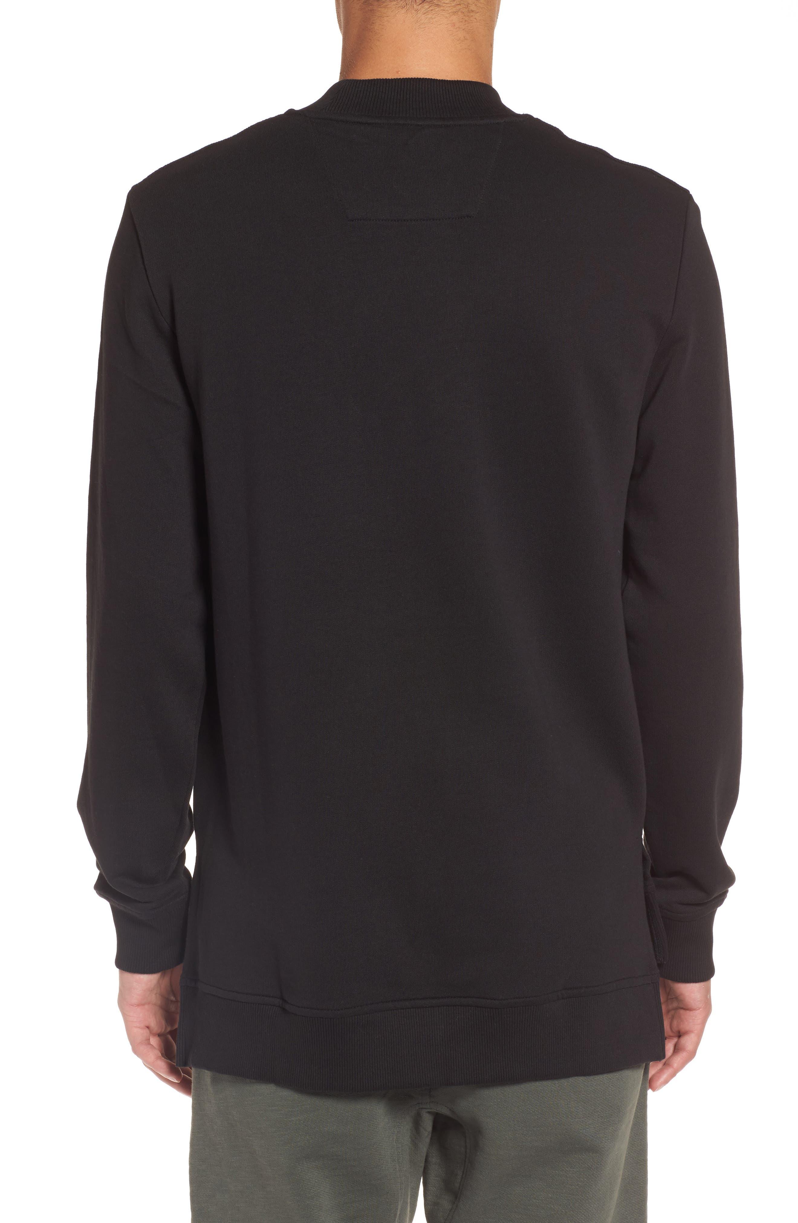 Zip Shoulder Sweatshirt,                             Alternate thumbnail 2, color,                             010