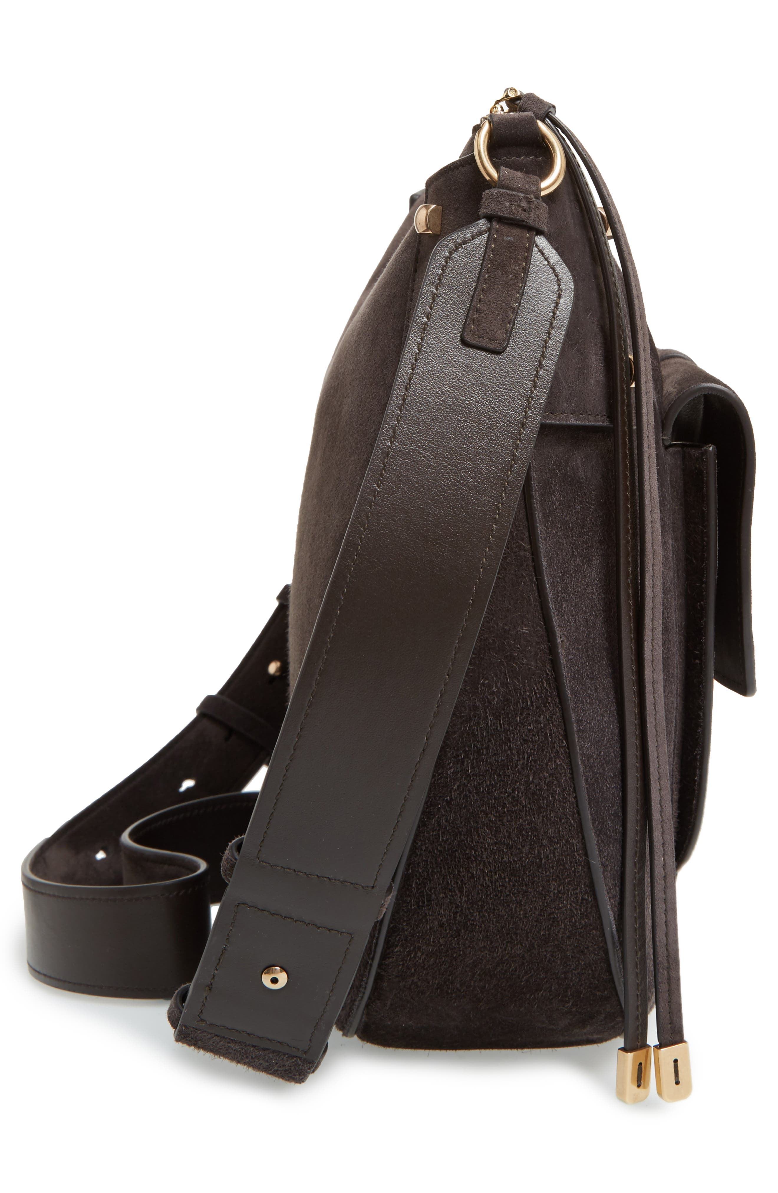 Suede Hobo,                             Alternate thumbnail 5, color,                             033