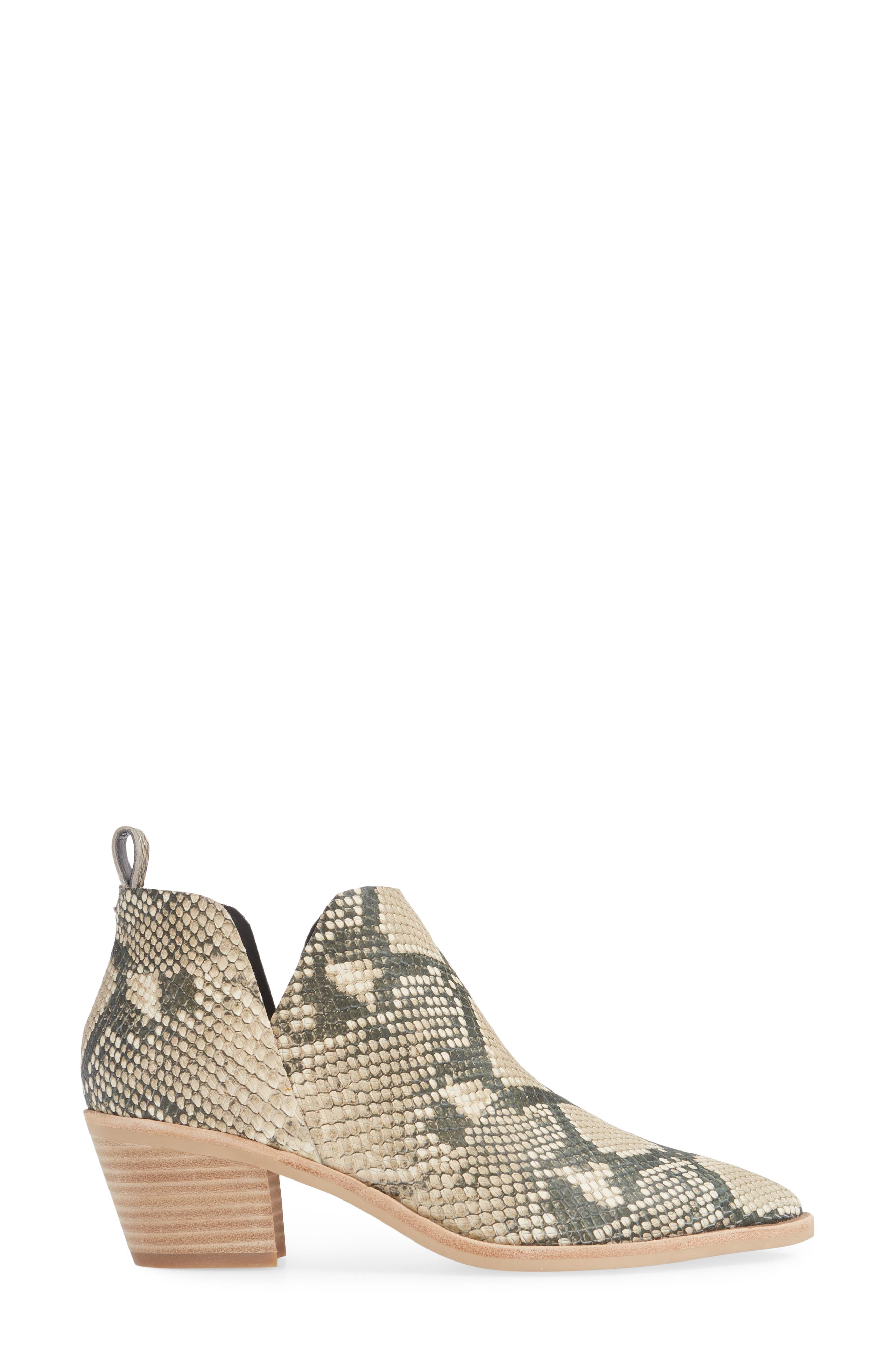 DOLCE VITA,                             Sonni Pointy Toe Bootie,                             Alternate thumbnail 3, color,                             SNAKE PRINT EMBOSSED LEATHER