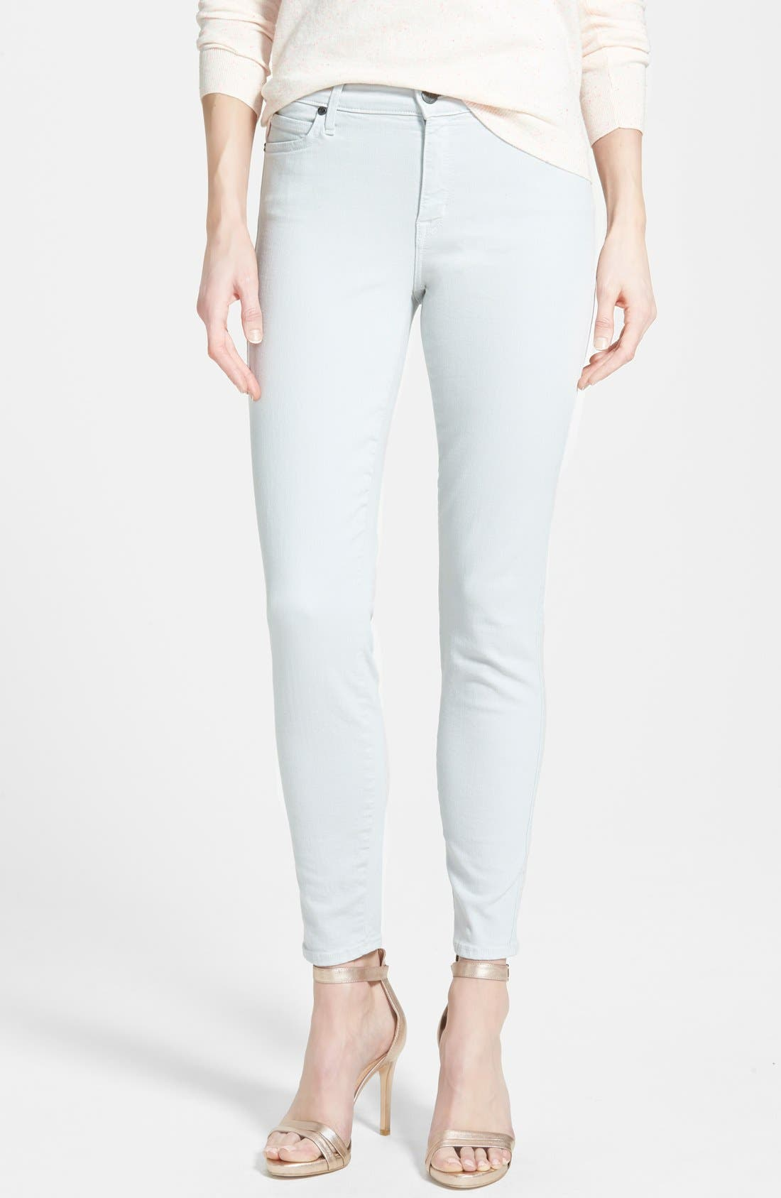 'Wisdom' Colored Stretch Ankle Skinny Jeans,                             Main thumbnail 1, color,                             098