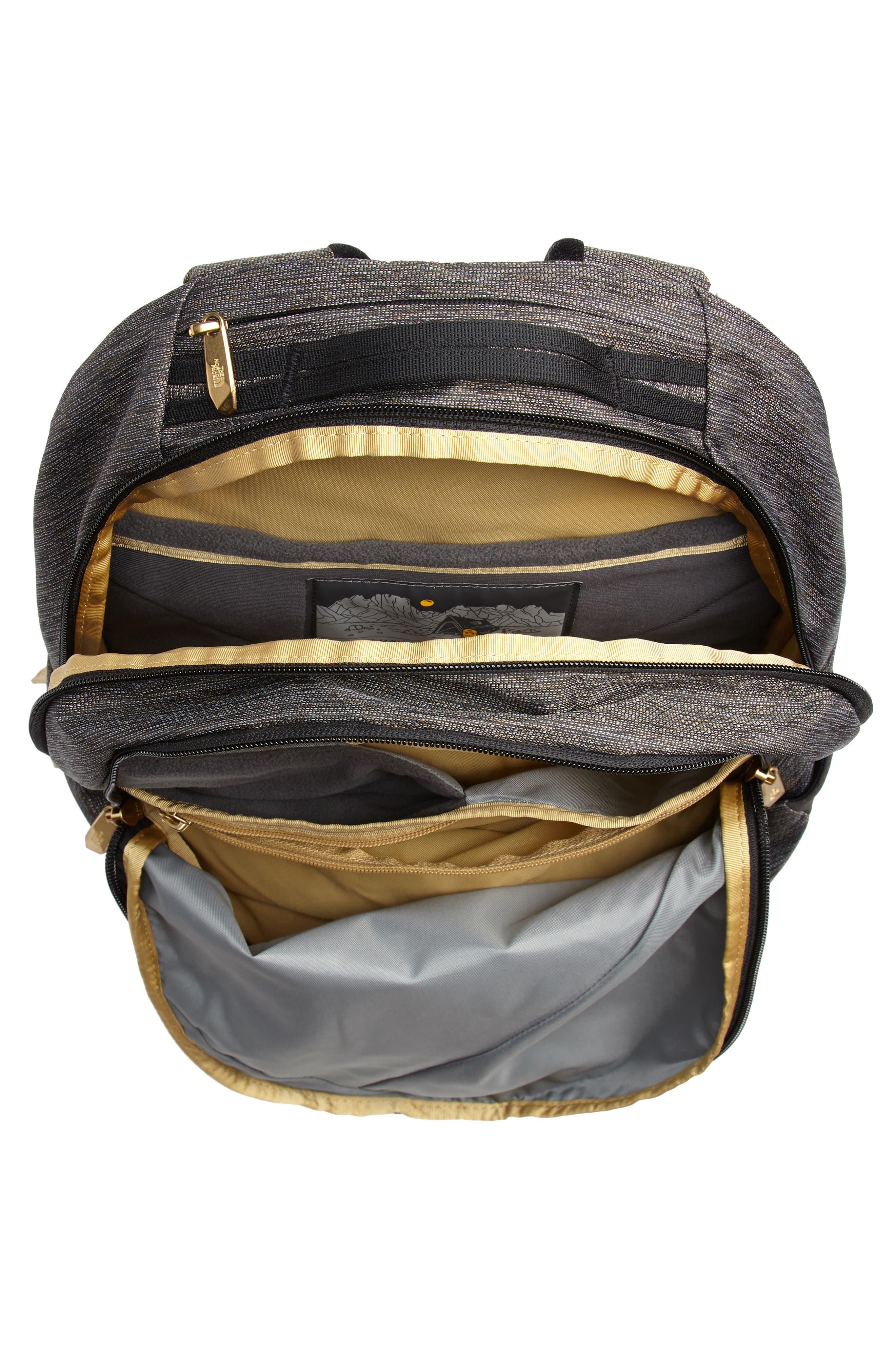 'Isabella' Backpack,                             Alternate thumbnail 4, color,                             TNF BLACK BRASS MELANGE