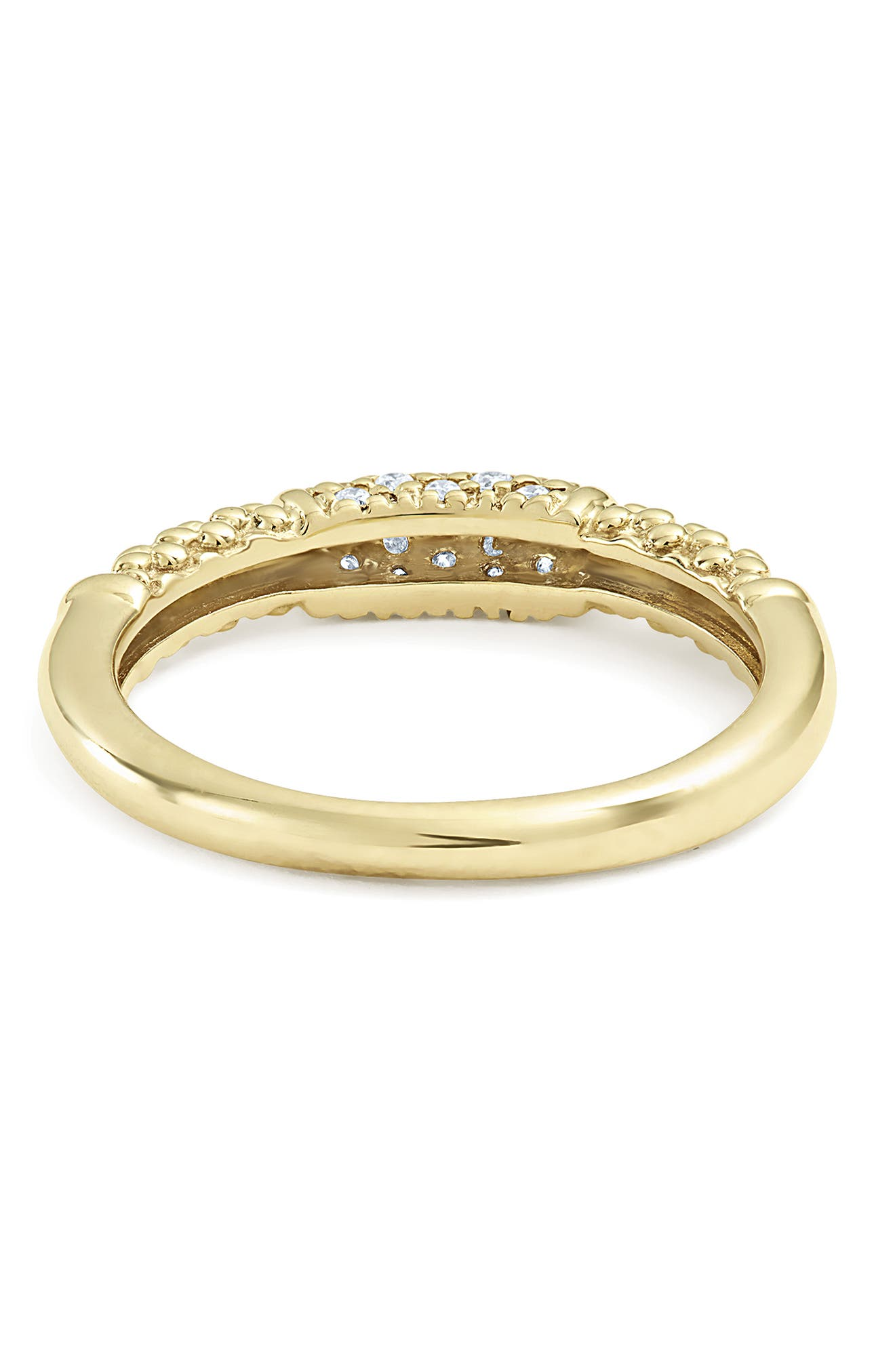 Caviar Diamond Ring,                             Alternate thumbnail 4, color,                             GOLD