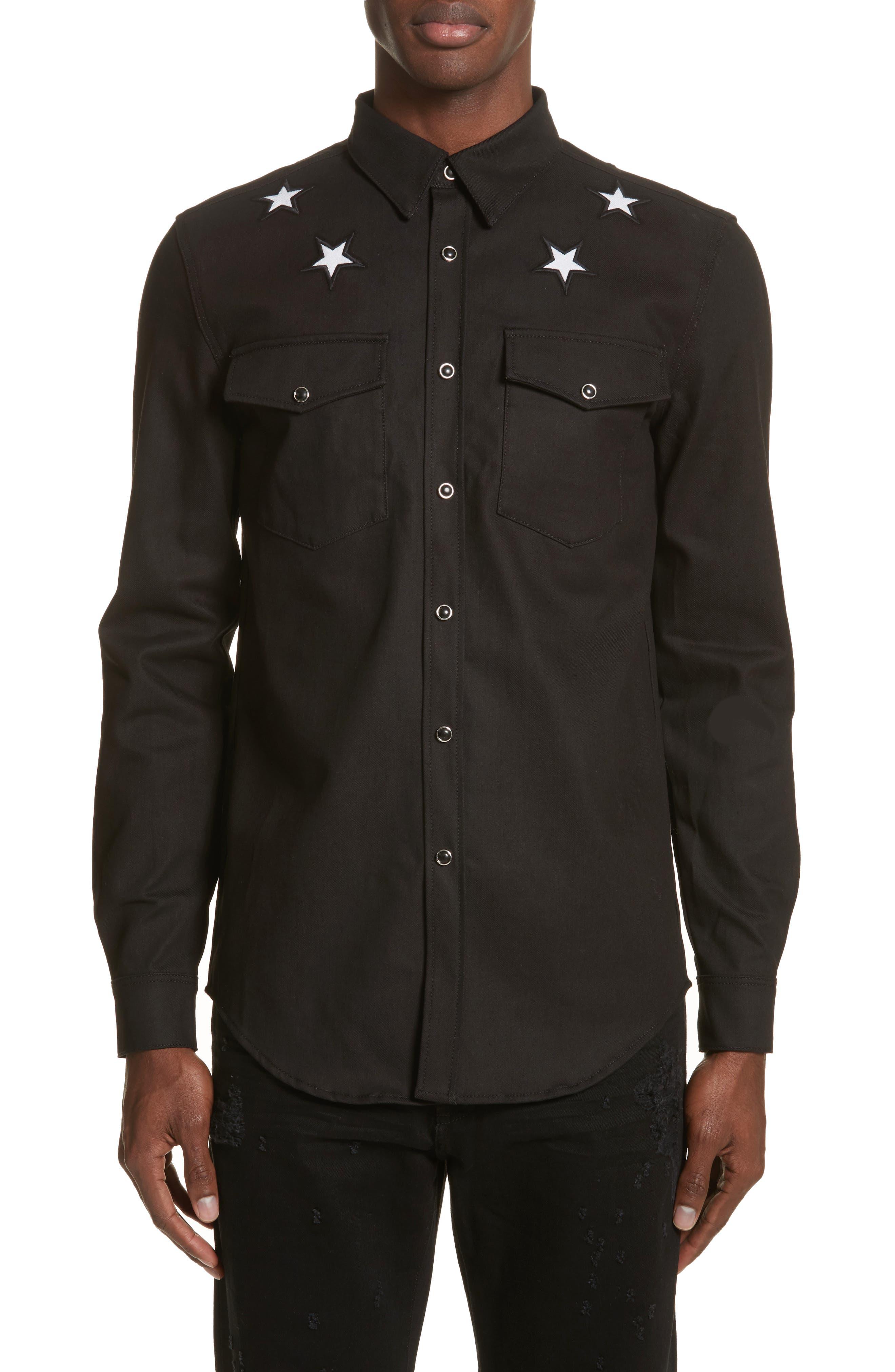 Denim Shirt,                         Main,                         color, 001