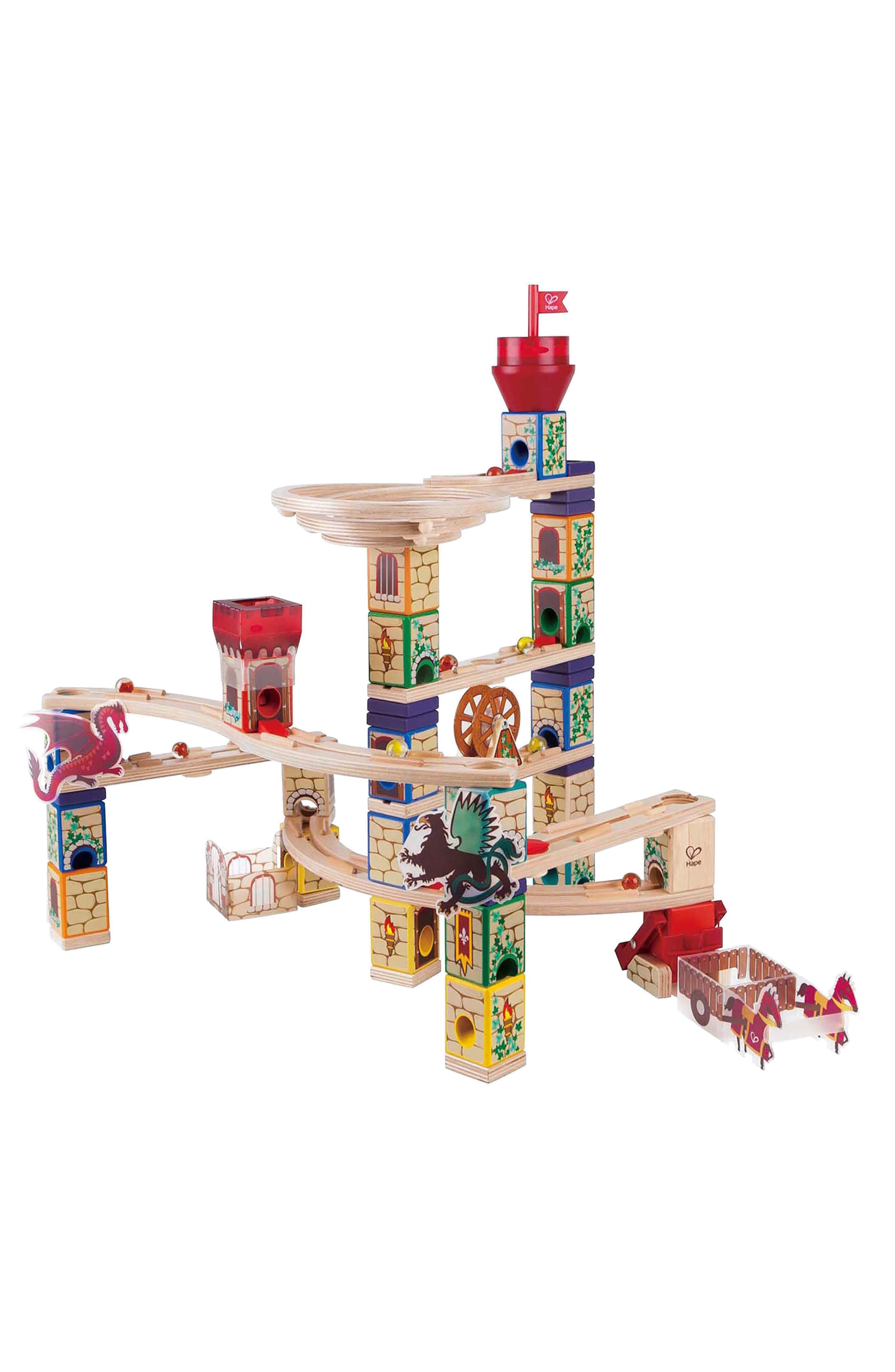Medieval Quest Quadrilla Marble Run,                             Main thumbnail 1, color,                             600