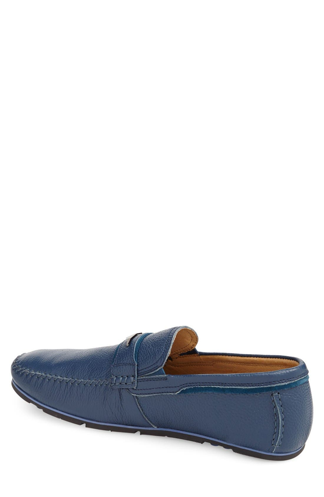 Leather Loafer,                             Alternate thumbnail 3, color,                             400