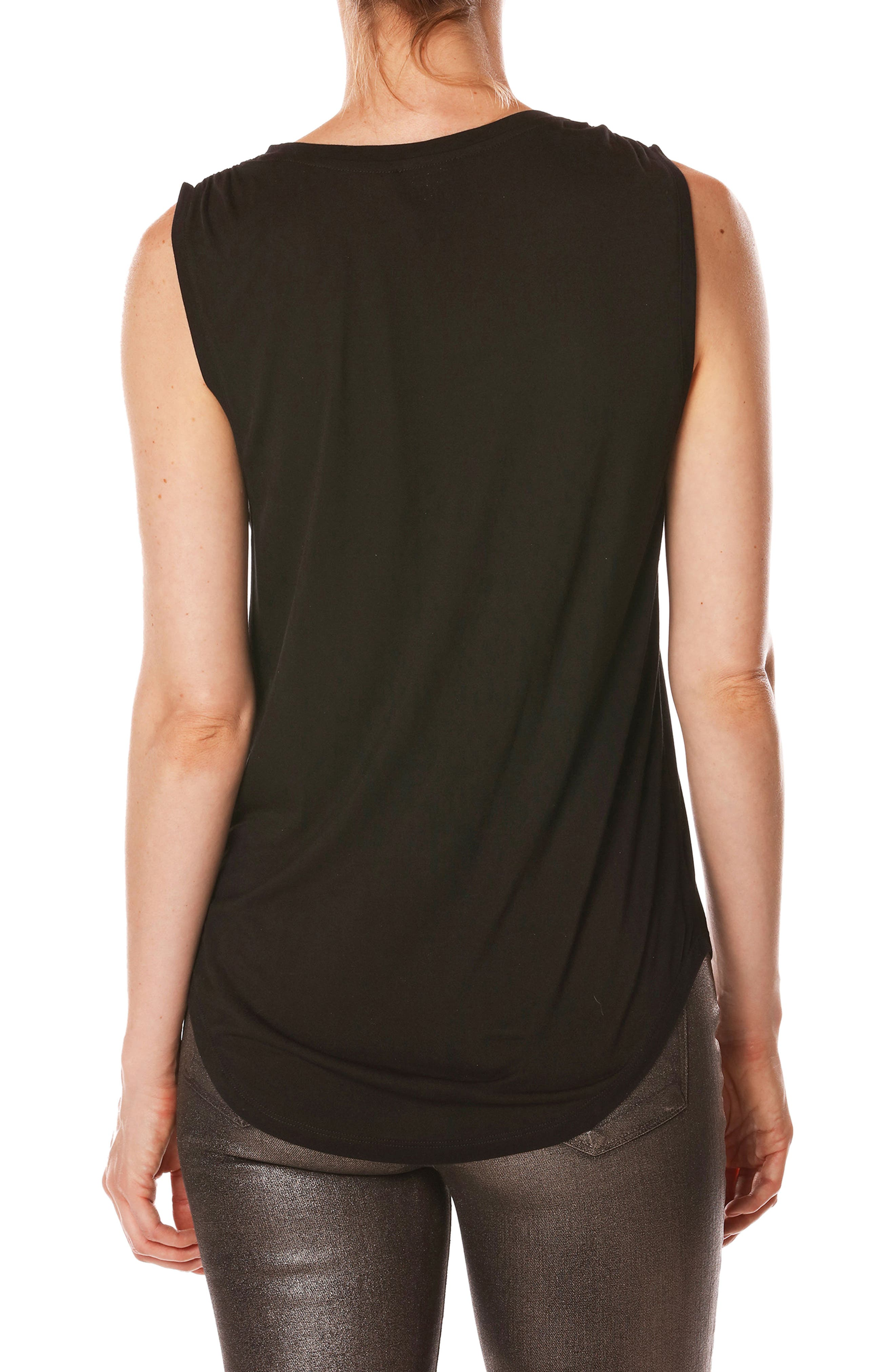 Rosie HW x PAIGE Kerstin Embellished Tank,                             Alternate thumbnail 2, color,                             001
