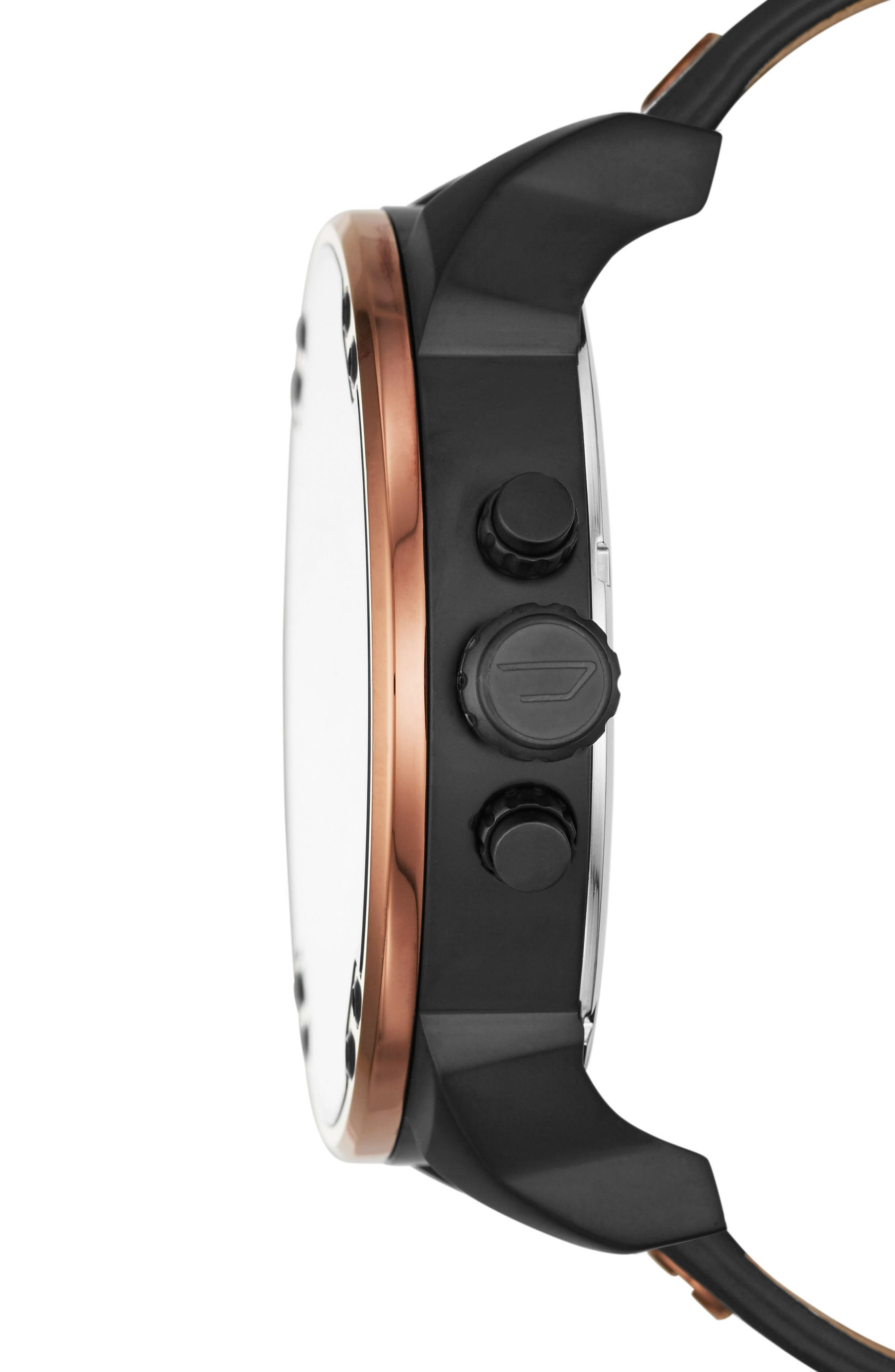 DIESEL<SUP>®</SUP>,                             Mr. Daddy 2.0 Chronograph Leather Strap Watch, 57mm,                             Alternate thumbnail 2, color,                             001